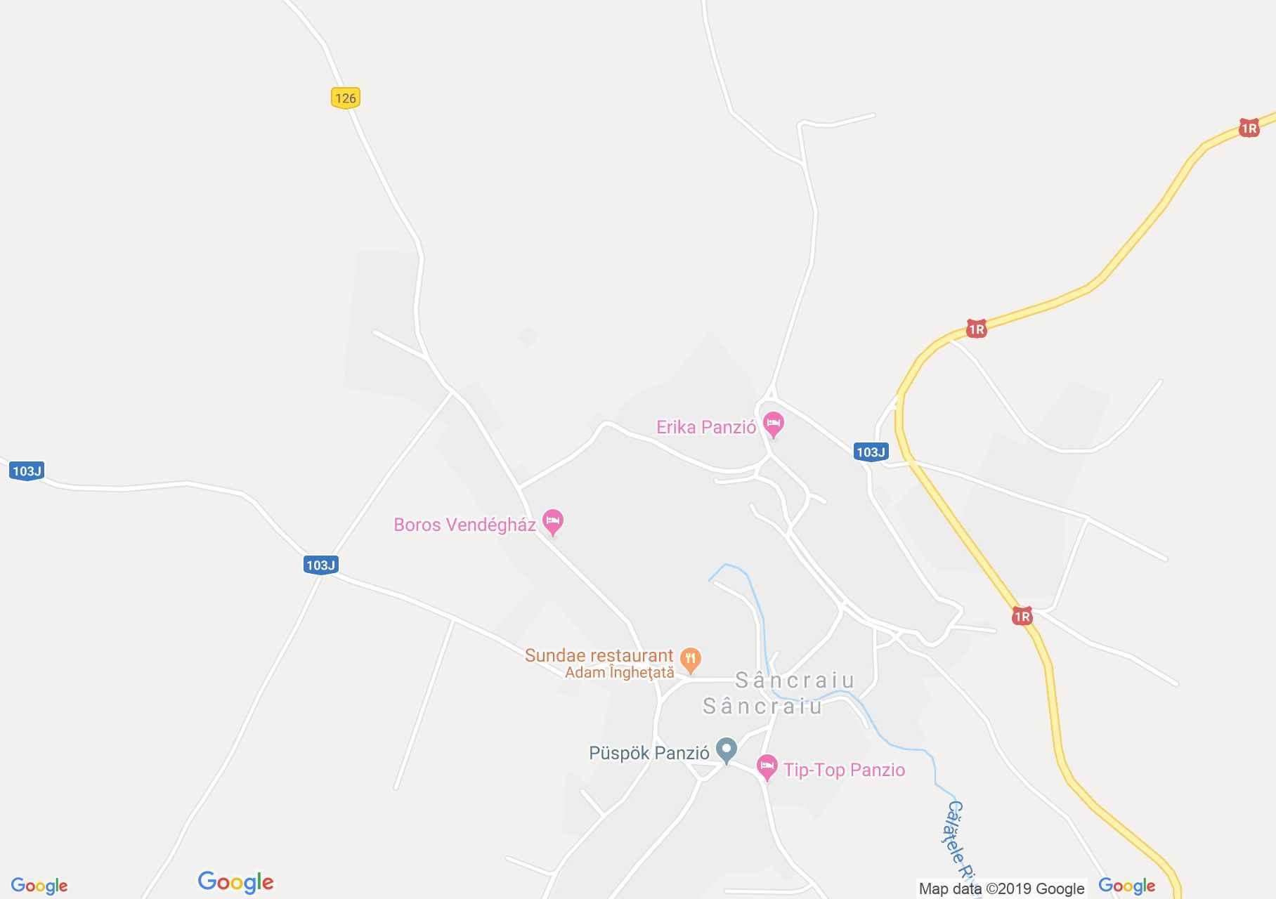 Hartă Sâncraiu: Pensiunea Saroklak