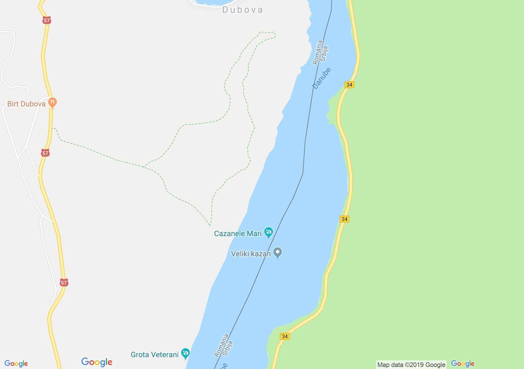 Duna szoros: Kazán, vagy Duna szoros (térkép)