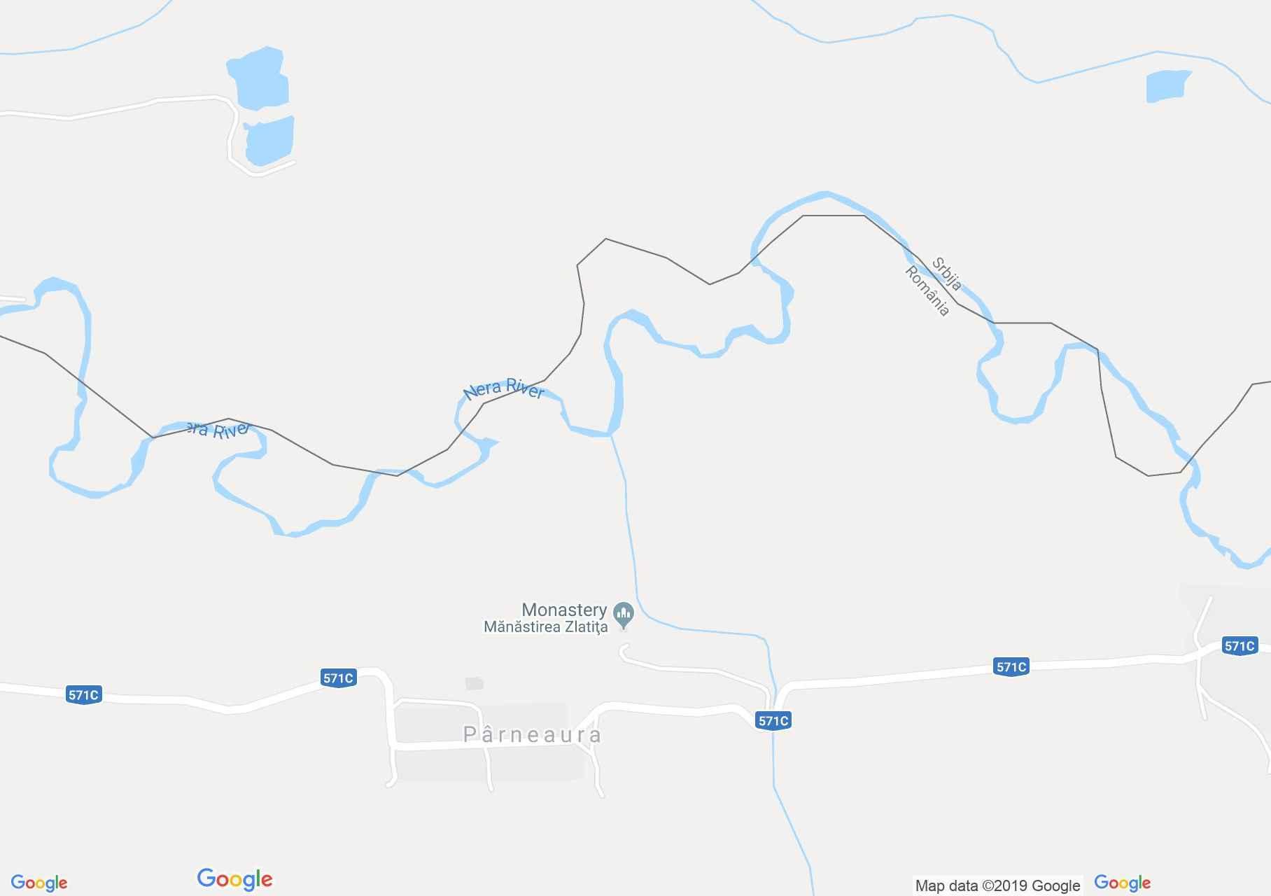 Pârneaura: Zlatica kolostor (térkép)