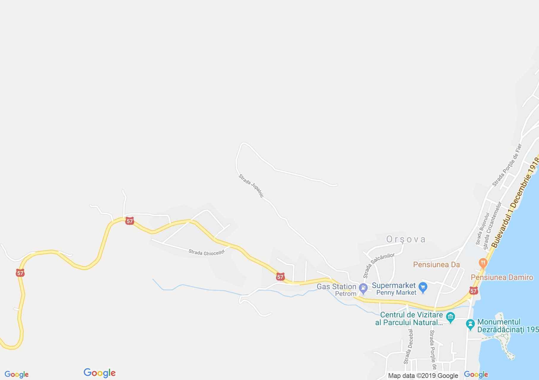 Orsova: Hősök sírja (térkép)