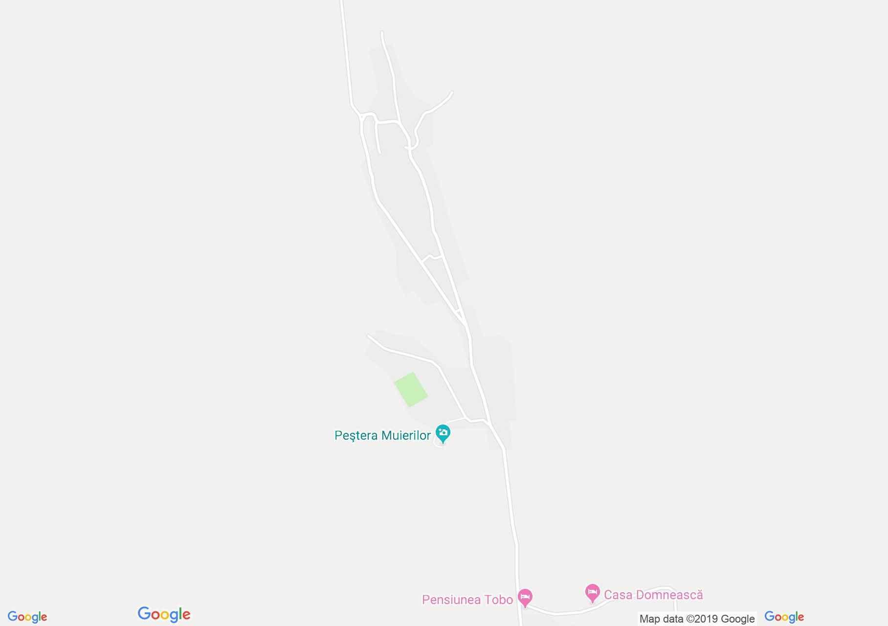 Map of Baia de Fier: Muierilor cave