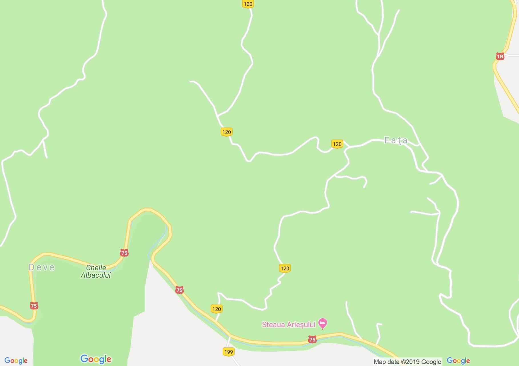 Fehérvölgy: La Bunica ház (térkép)