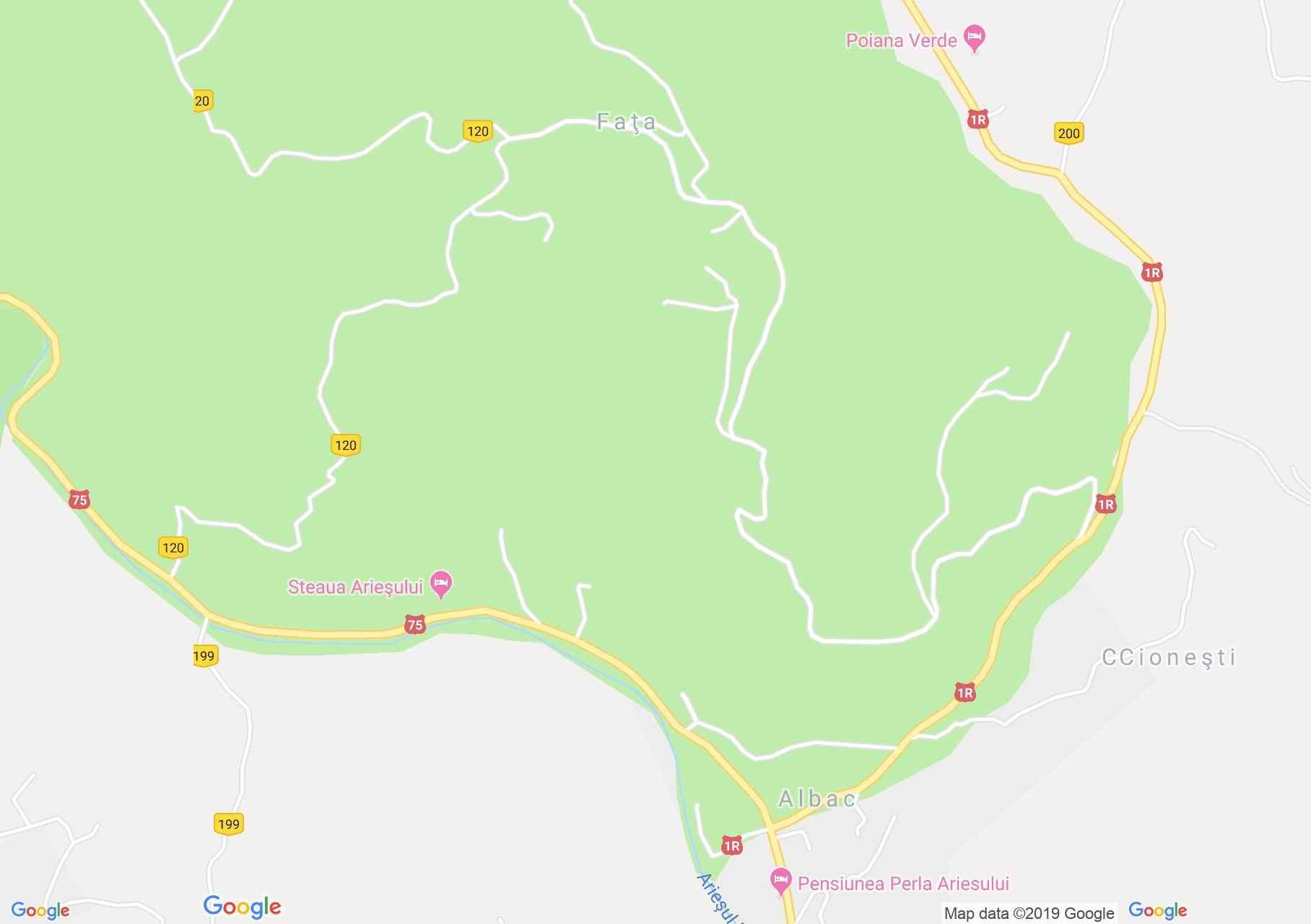 Fehérvölgy: Bradul panzió (térkép)