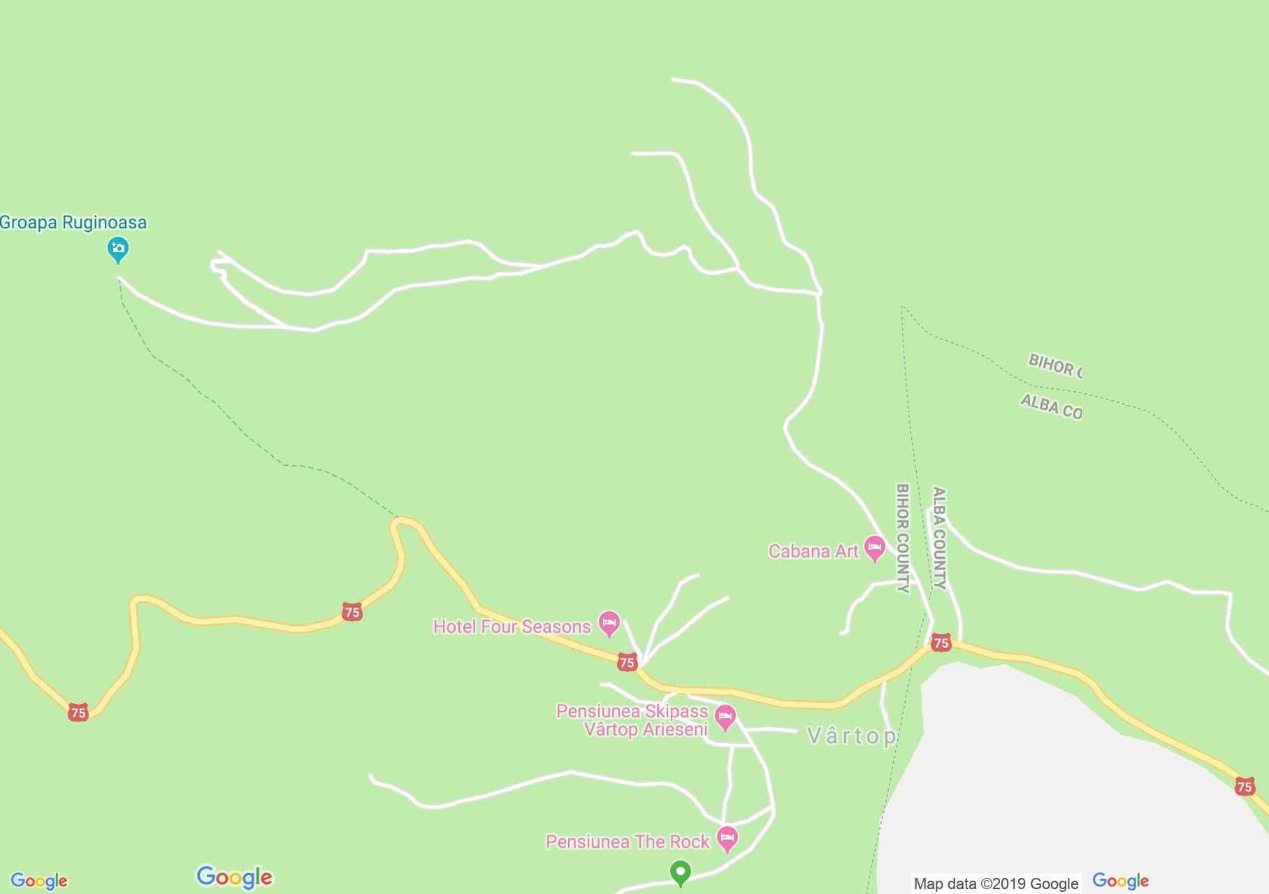 Map of Vârtop: Vila Diana