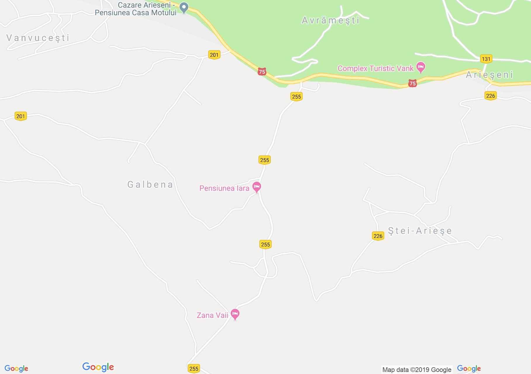 Hartă Arieşeni: Pensiunea Moldova