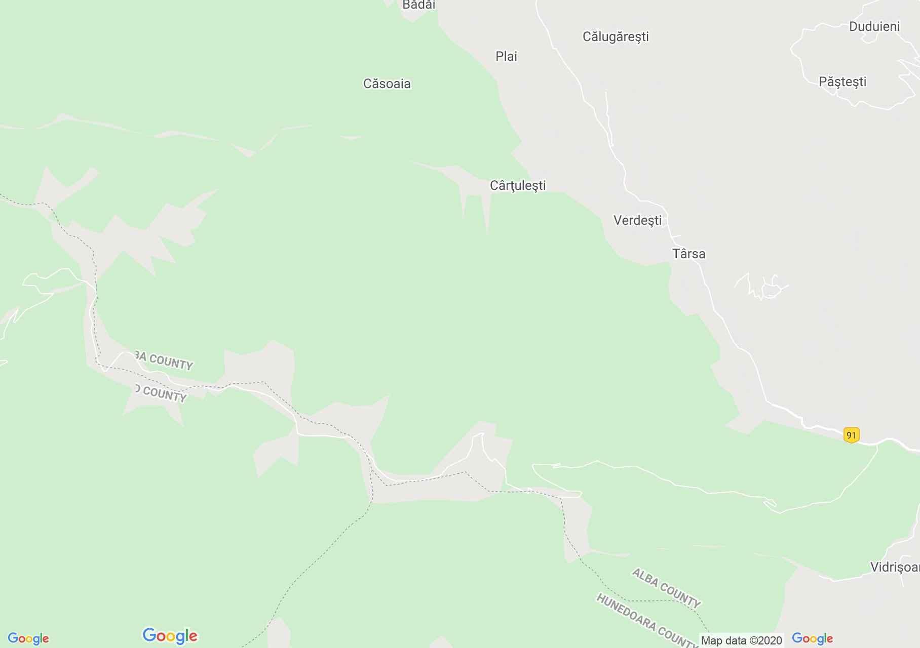 Hartă Muntele Găina: Târgul de fete de la Găina