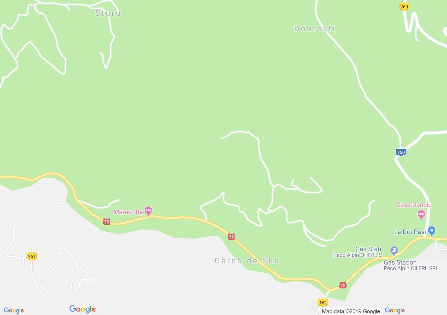Felsőgírda: Cipriuk panzió (térkép)