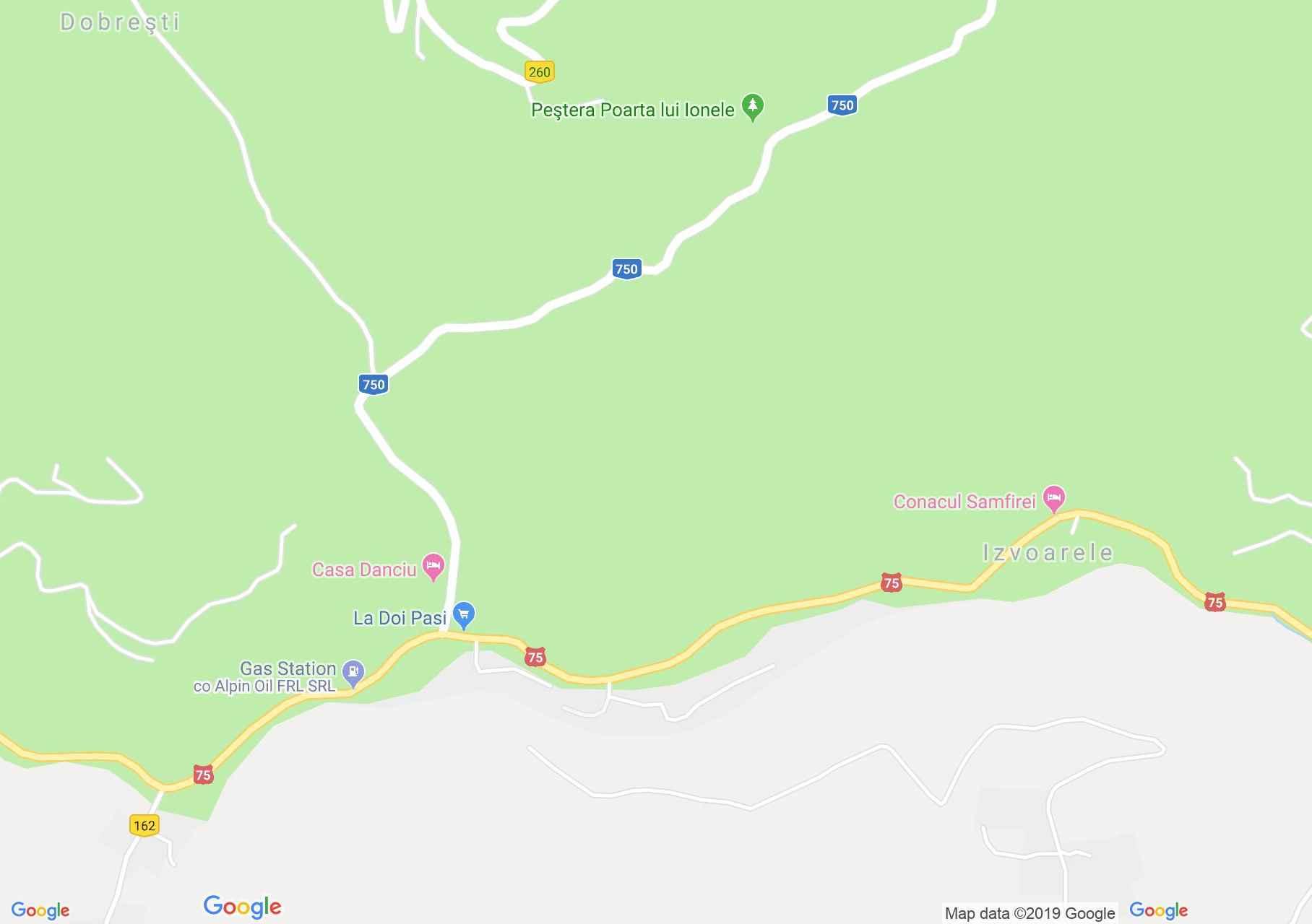 Felsőgírda: Casa Silvia (térkép)