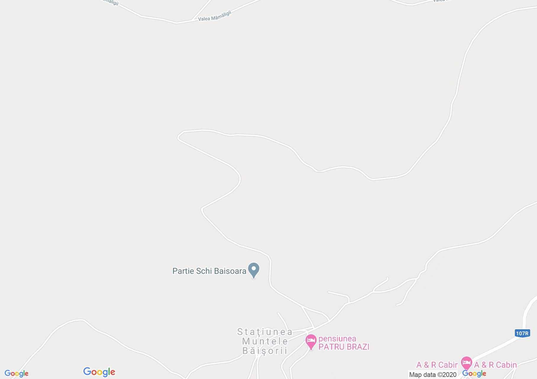 Hartă Muntele Băişorii: Pârtia Baisoara