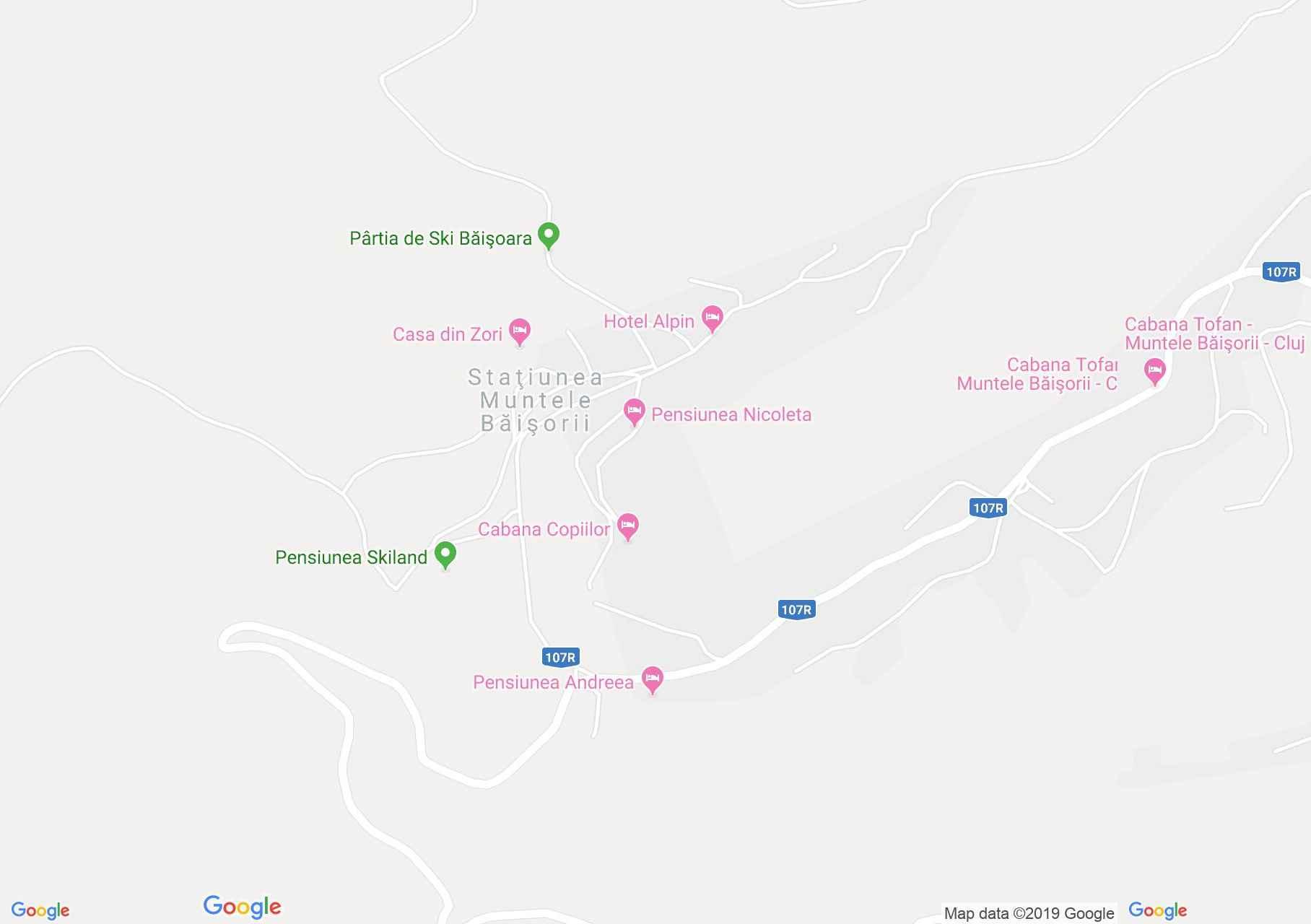 Map of Muntele Băişorii: Andreea Pension
