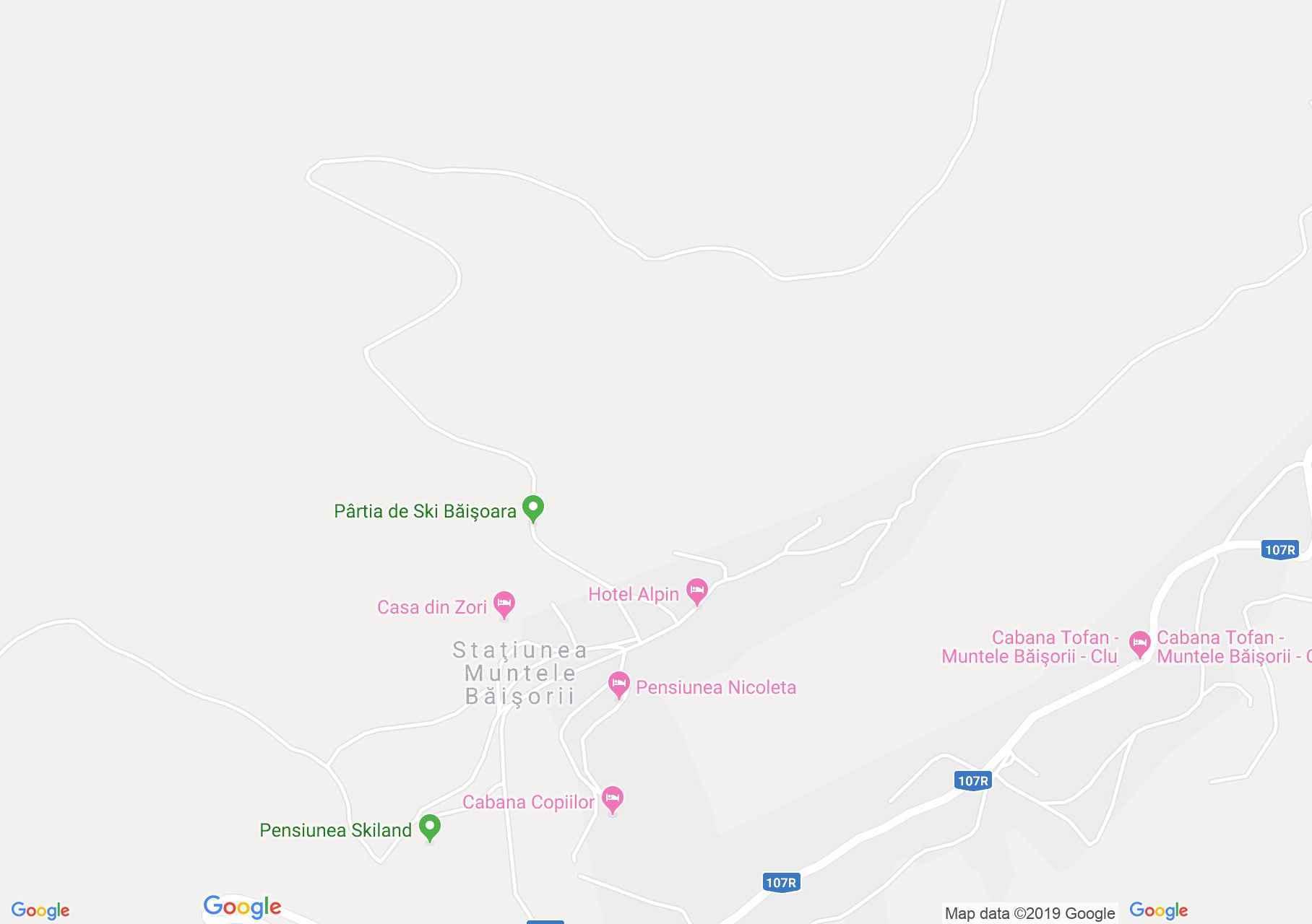 Map of Muntele Băişorii: Nicoleta Pension