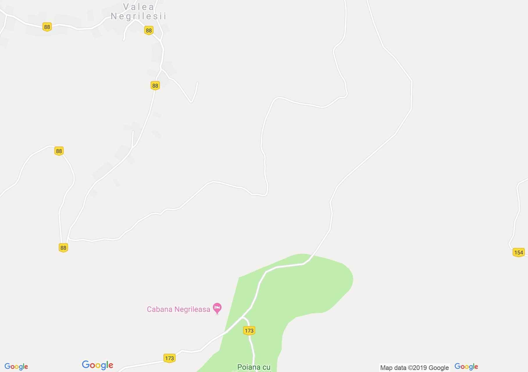 Valea Negrilesii: Negrileasa-i nárciszmező (térkép)