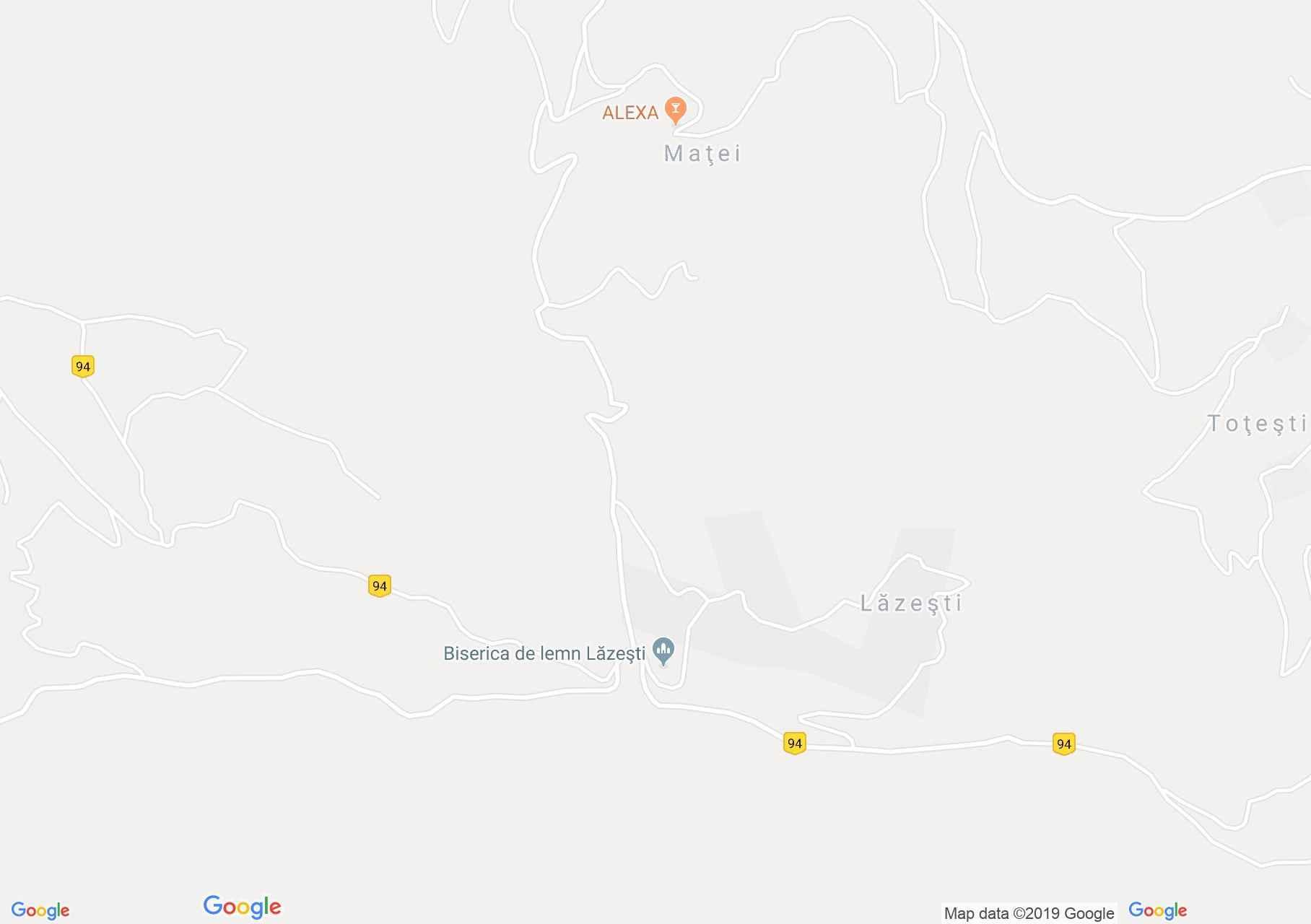 Vadu Moţilor: Fatemplom, Lăzeşti (térkép)