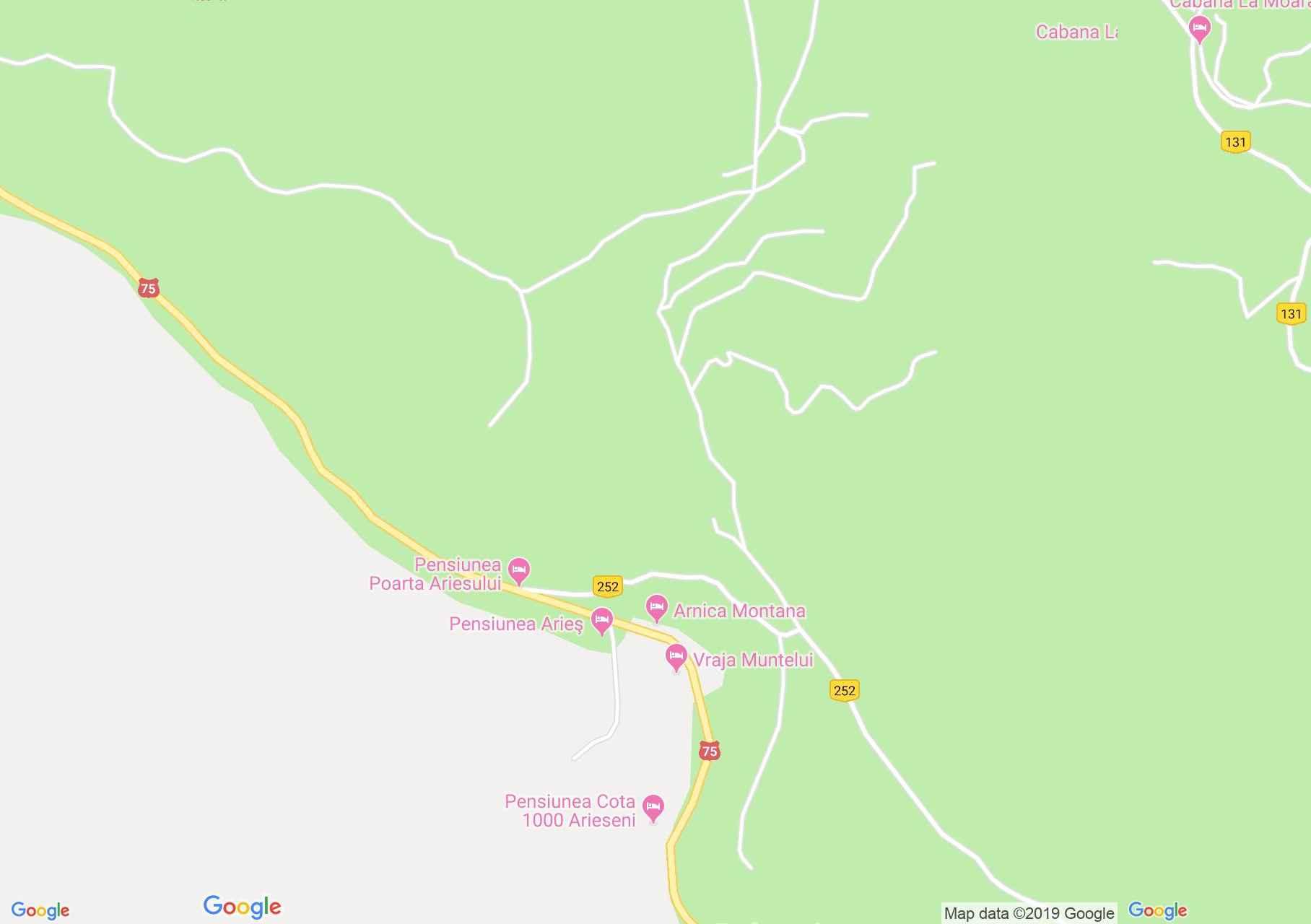 Hartă Arieşeni: Vraja Muntelui