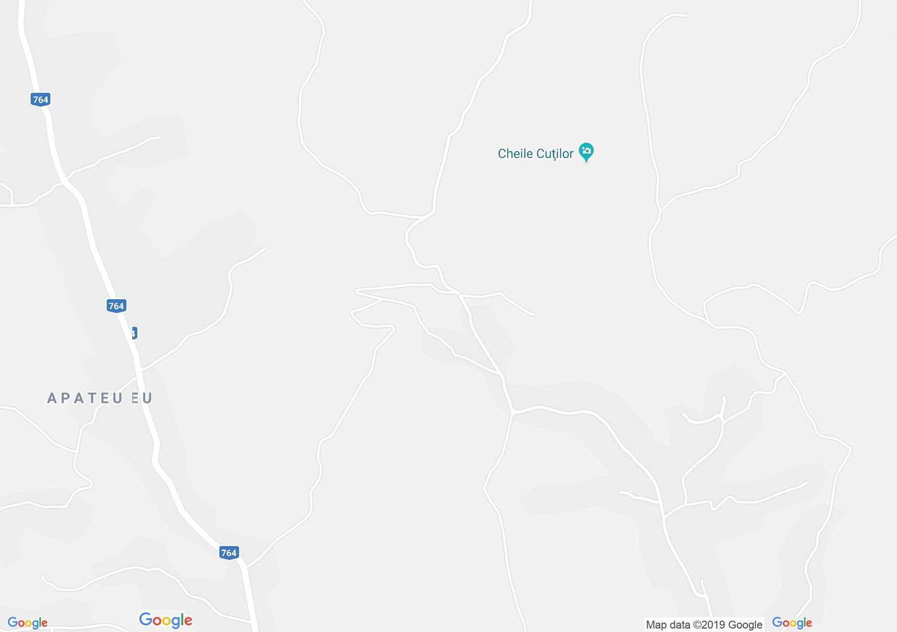 Hartă Cheile Albioarei: Izbucul Topliţei de Roşia