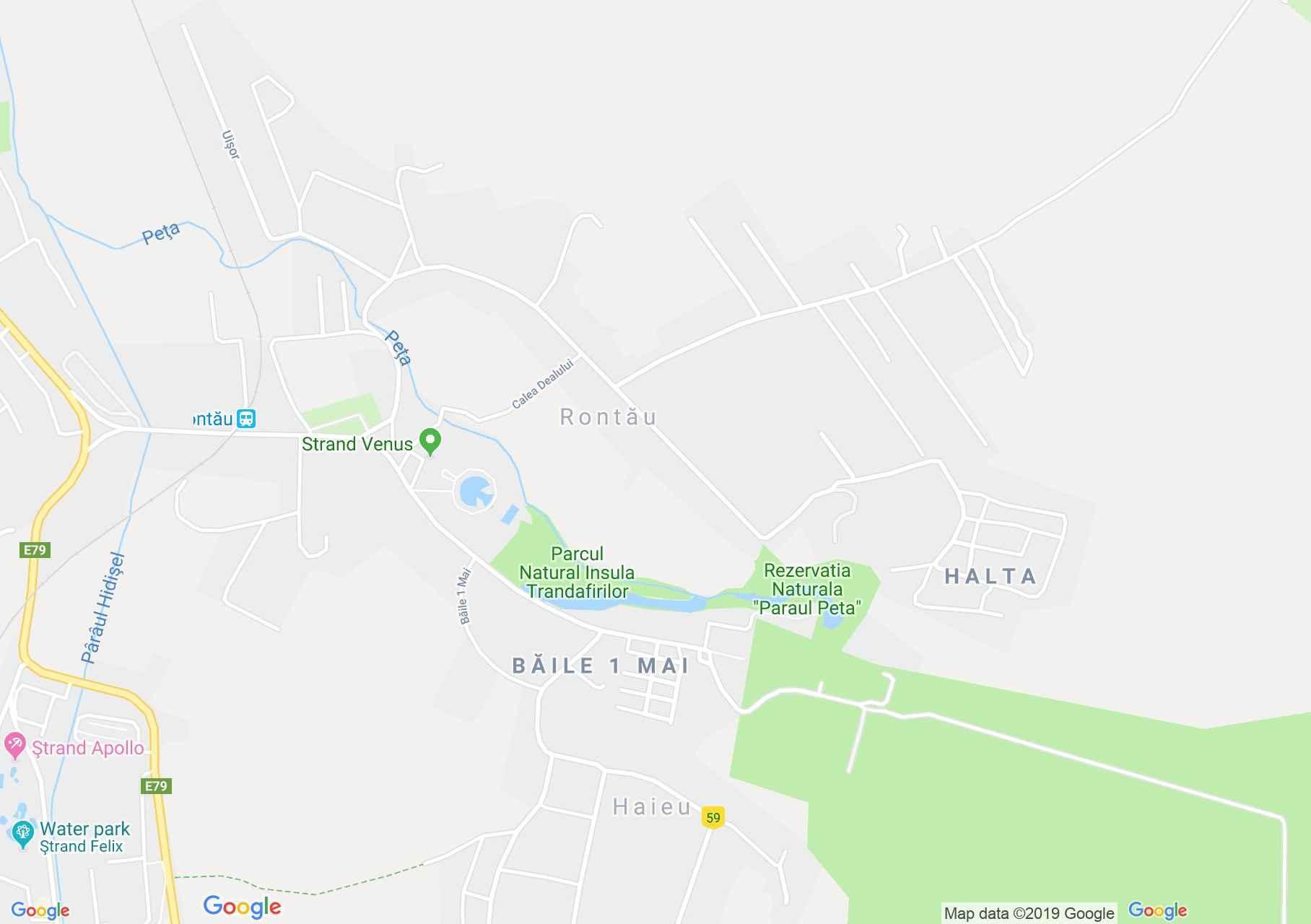 Püspökfürdő: Viorica panzió (térkép)