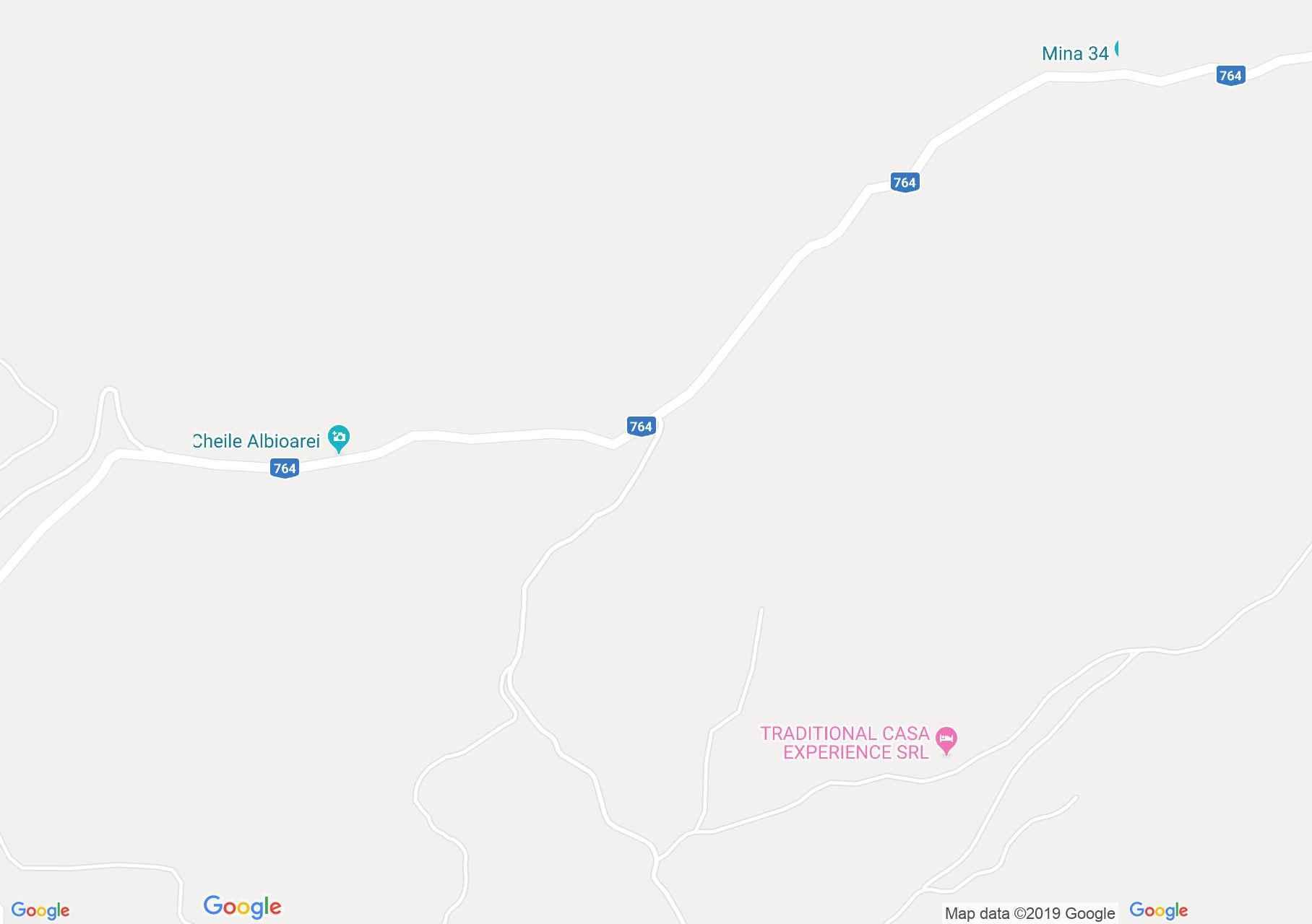 Hartă Platoul Runcuri: Peştera Ciur Ponor