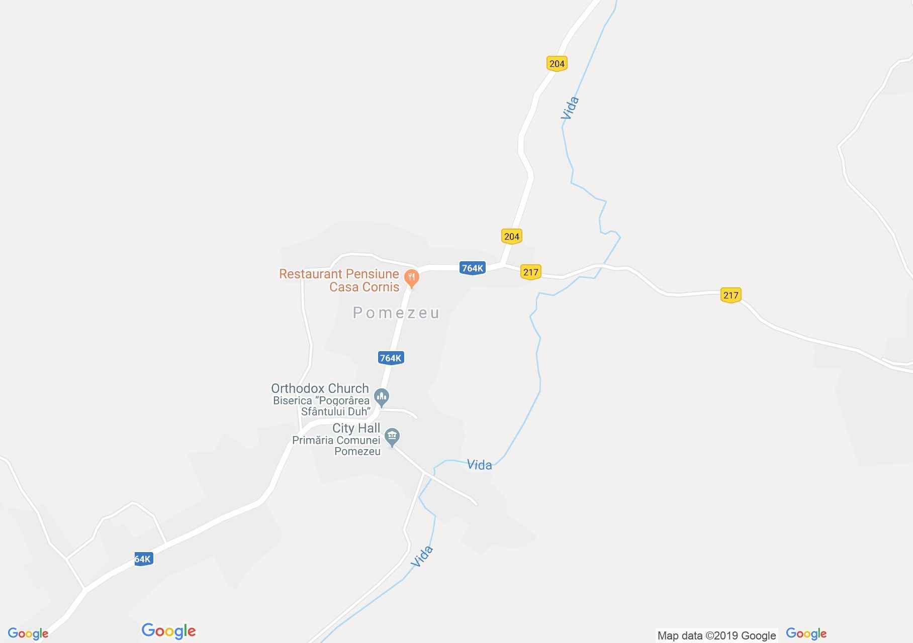 Hartă Pomezeu: Cetate