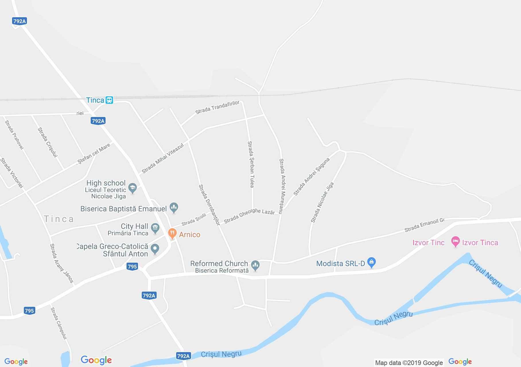 Tenke: Művelődési Központ szálláshelye (térkép)