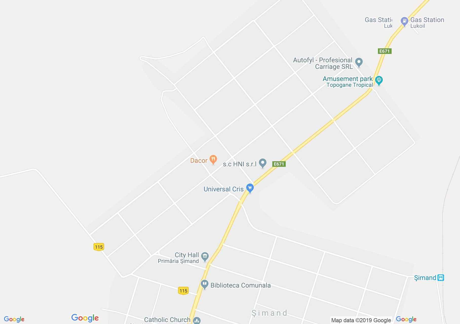 Simánd: Simánd (térkép)