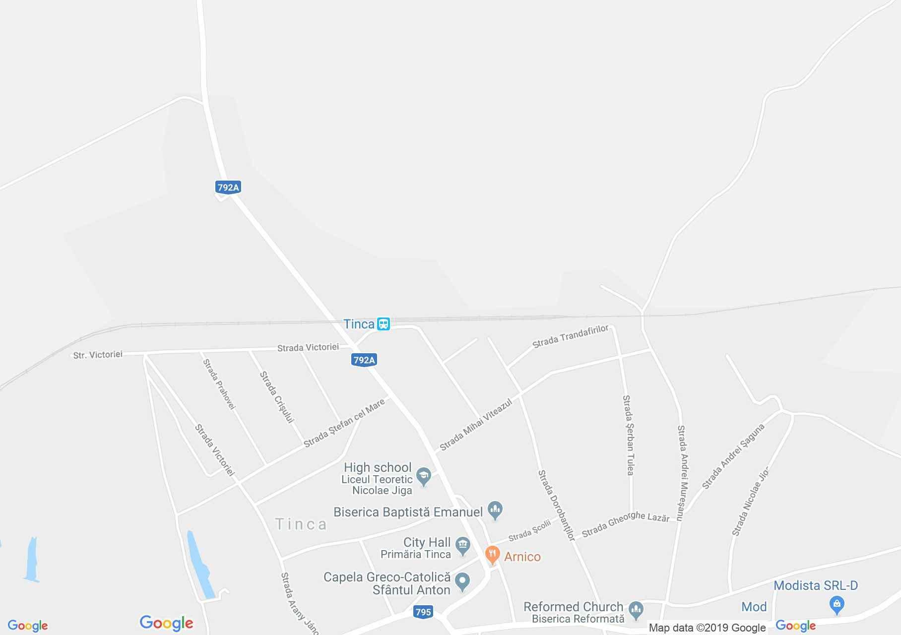 Hartă Tinca: Biserica de lemn din Sohodol