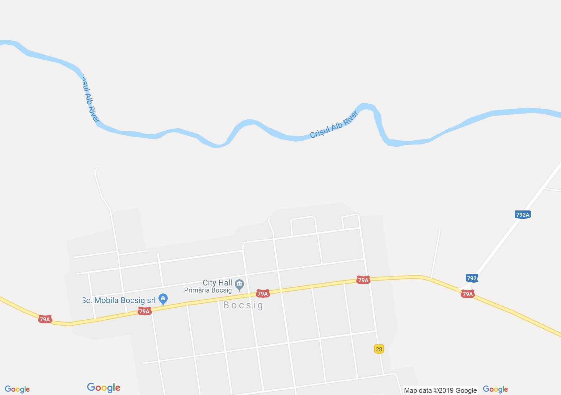 Bokszeg: Bogszeg (térkép)