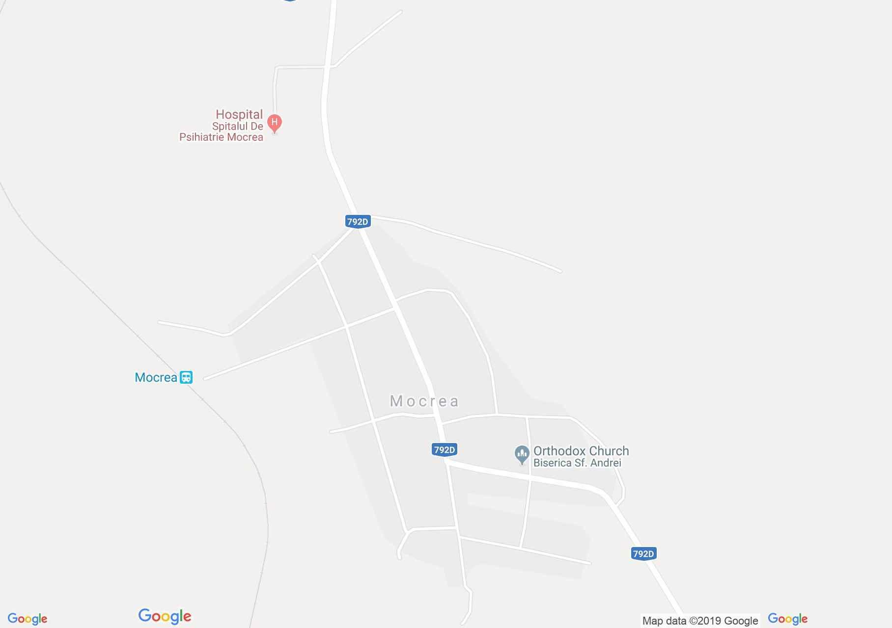 Hartă Mocrea: Mocrea