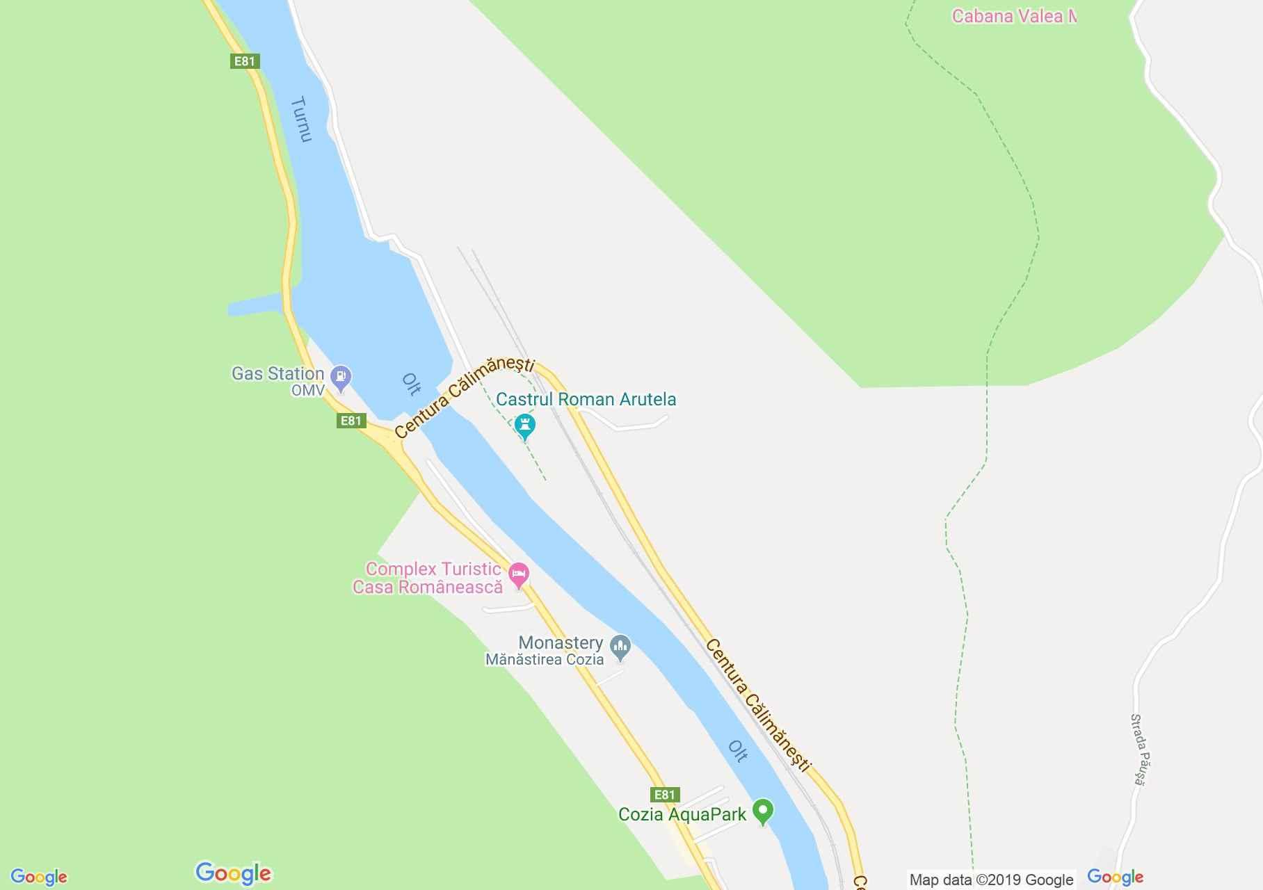 Hartă Călimăneşti: Mănăstirea Cozia, Paraclisul de Nord