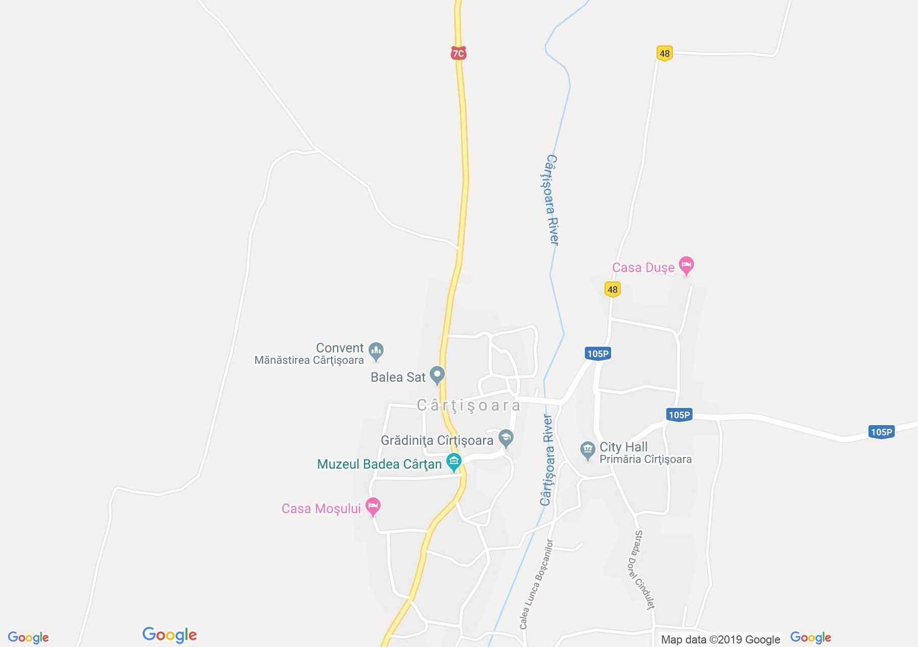DN7c: Badea Cârţan múzeum, Kercisóra (térkép)