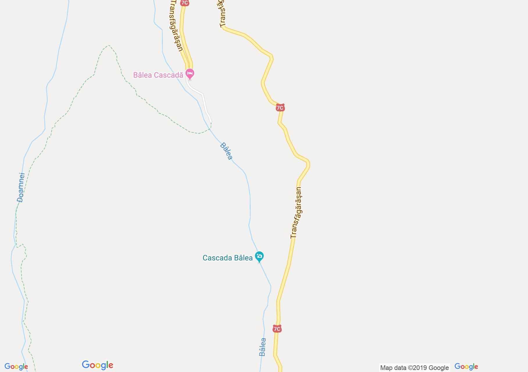 Hartă DN7c: Cascada Bâlea