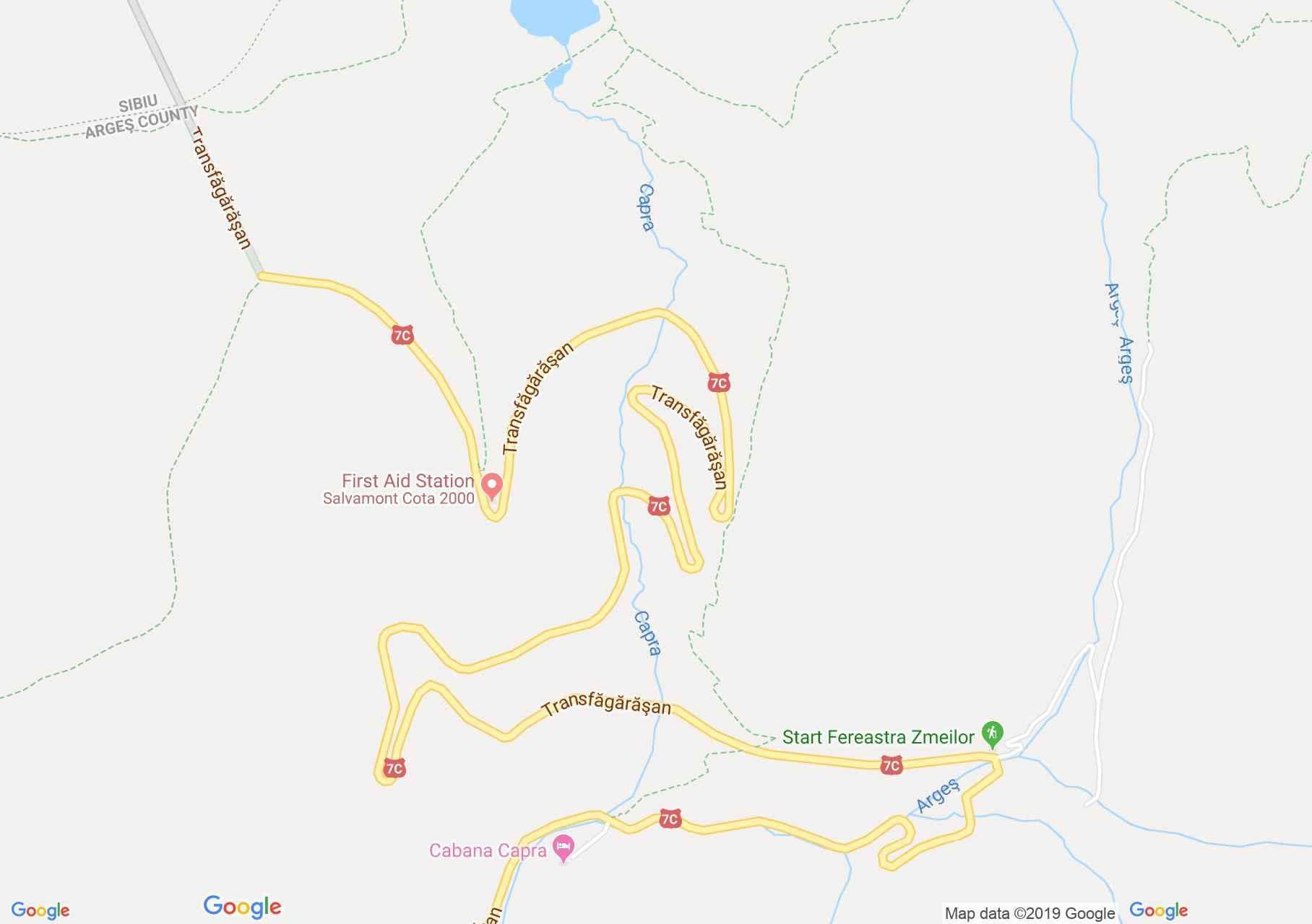 DN7c: Zerge vízesés (térkép)