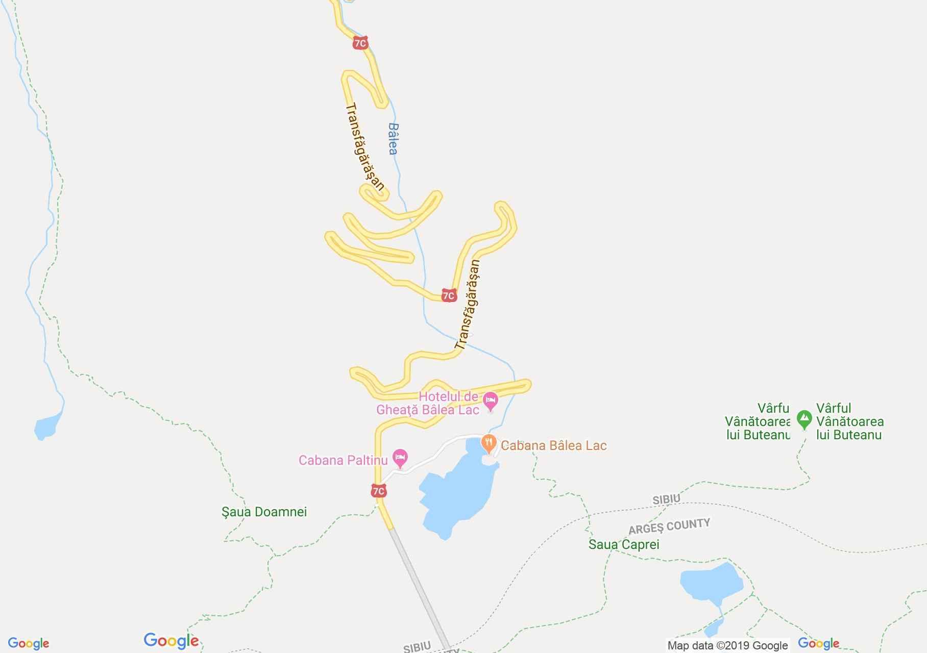 Map of DN7c: Bâlea Lake