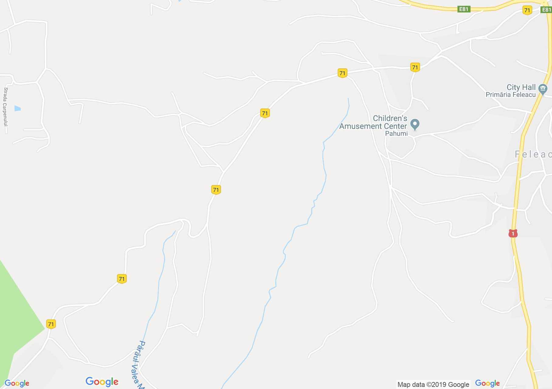 Map of Feleacu: Căprioara valley