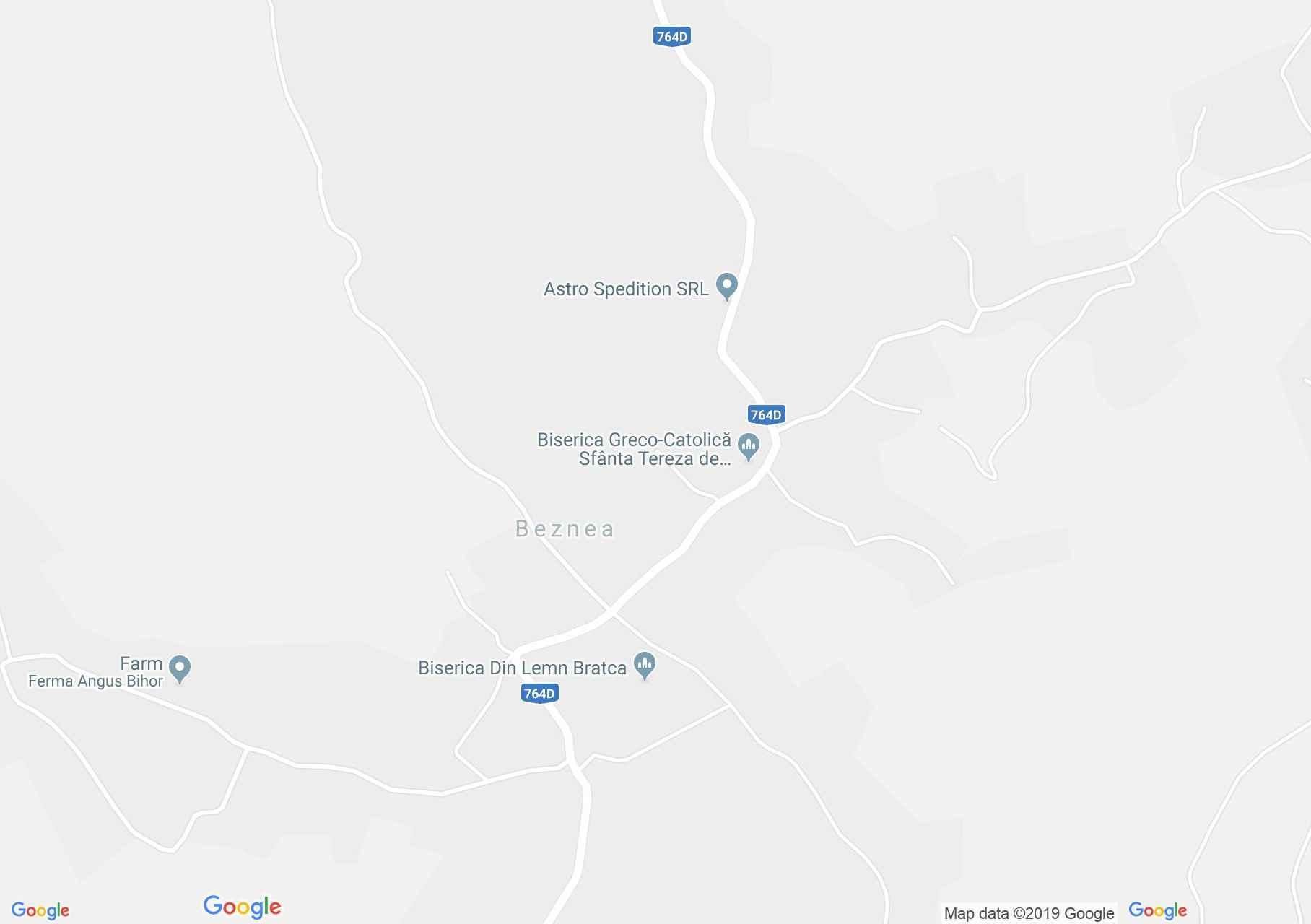 Beznye: Fatemplom (térkép)