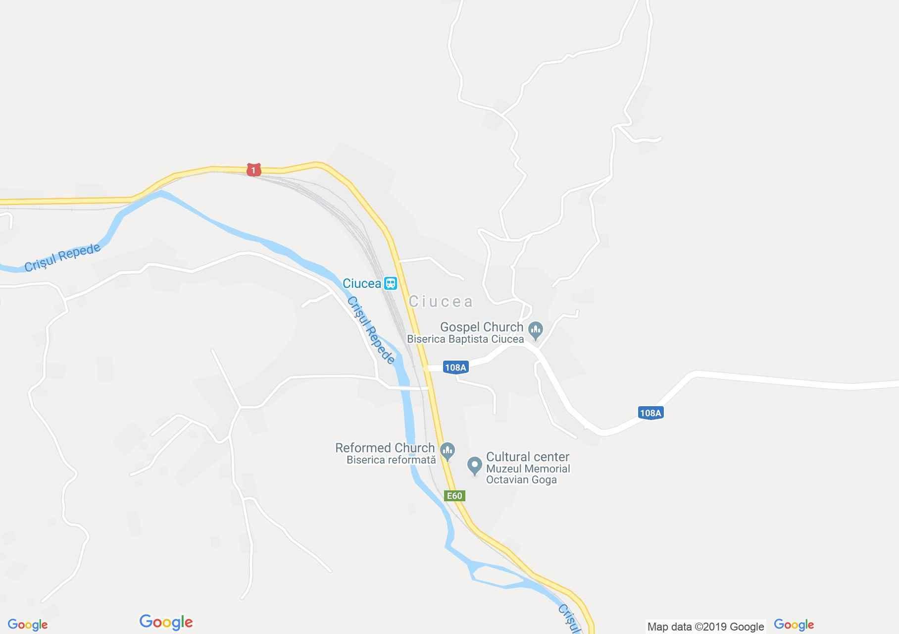 Csucsa: Református templom (térkép)