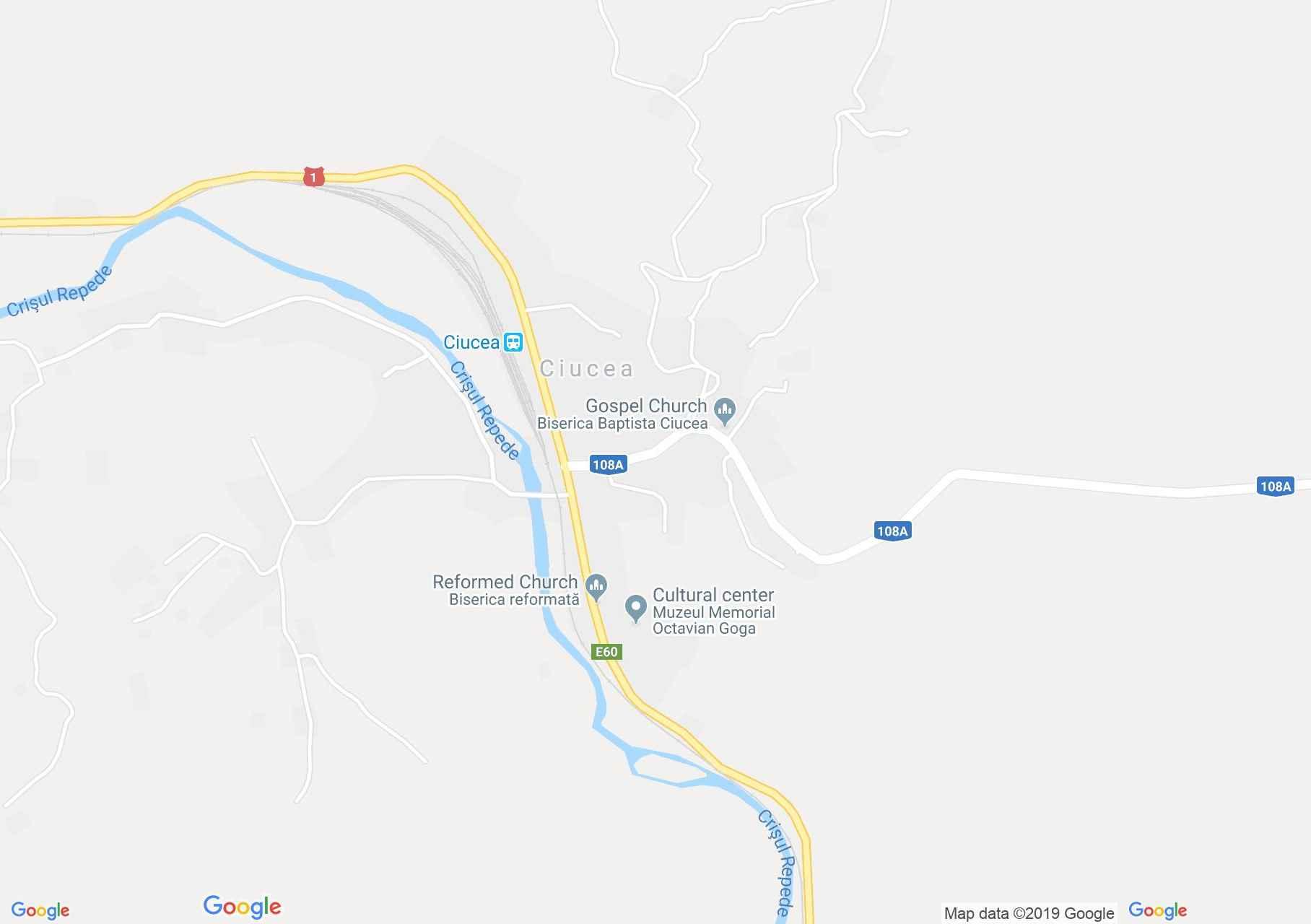 Map of Ciucea: Goga castle