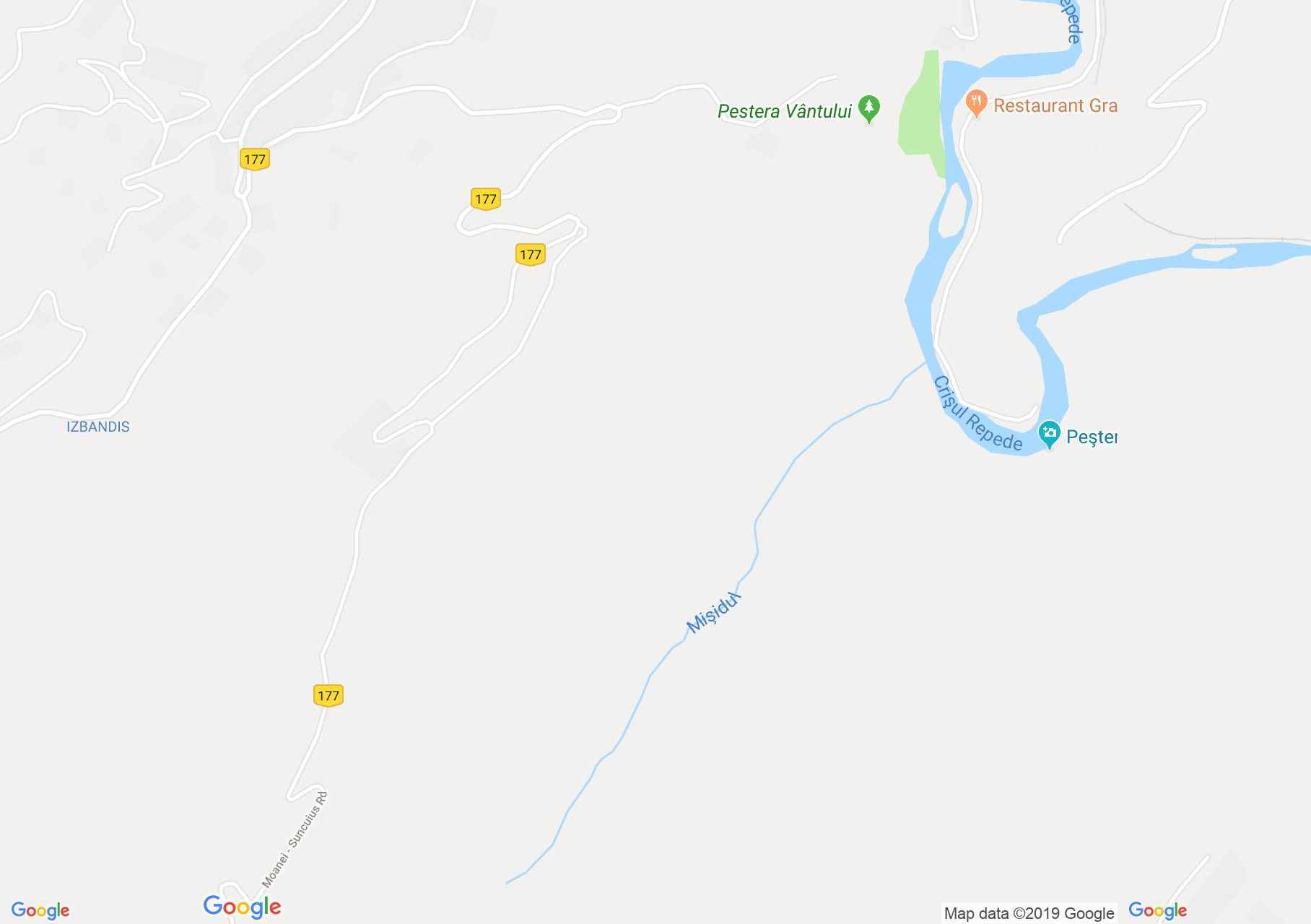 Hartă Şuncuiuş: Valea Mişidului