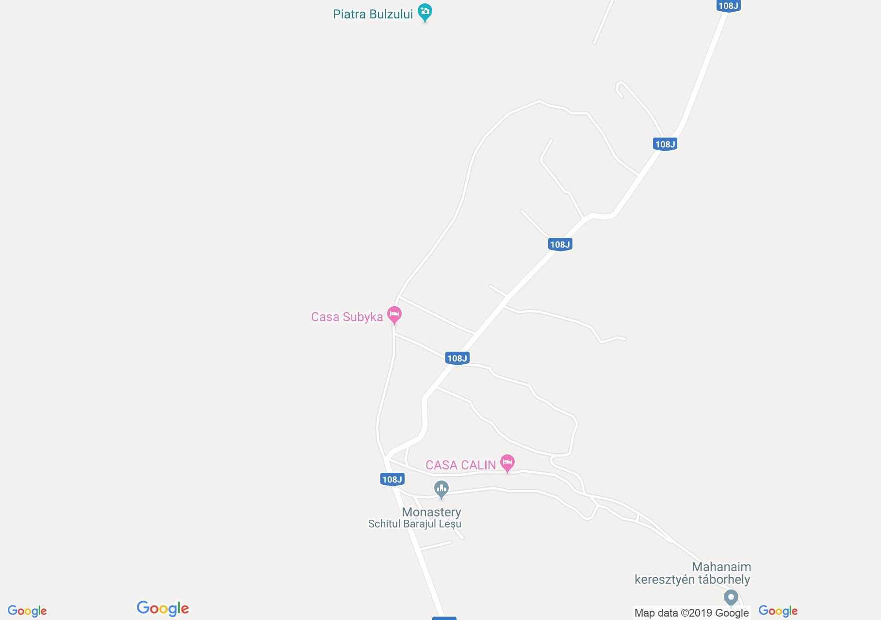 Lesui tó: Melinda panzió (térkép)