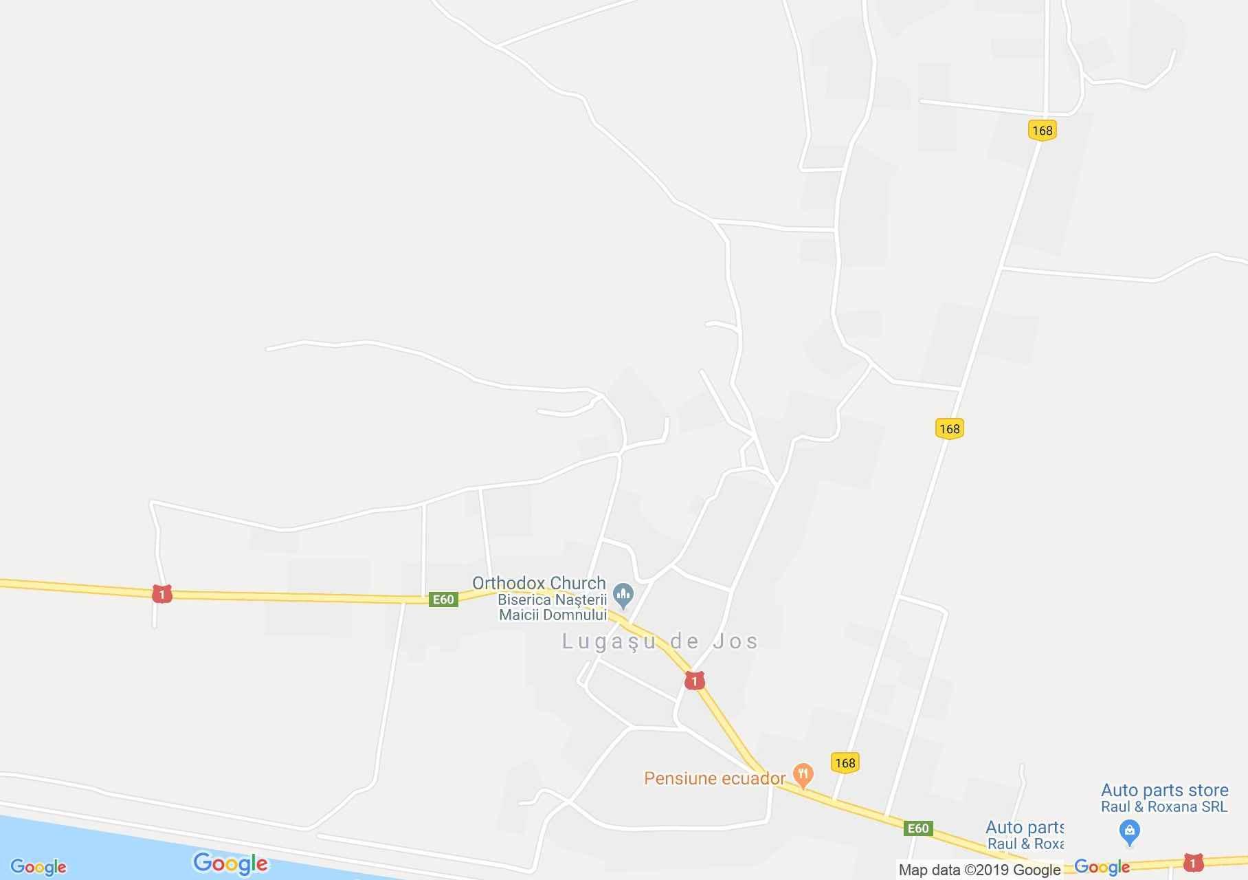 Hartă Lugaşu de Jos: Pensiunea President