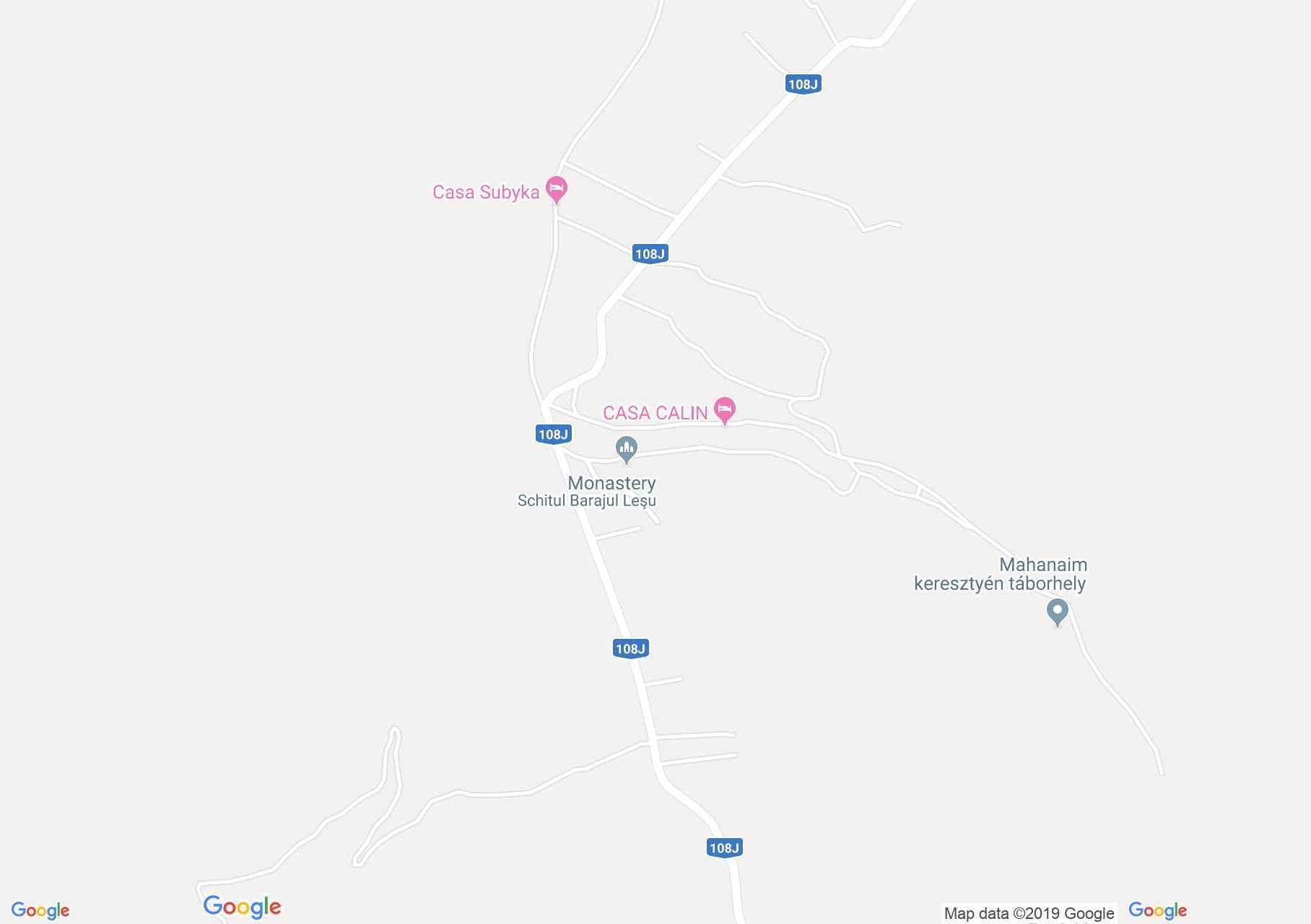Lesui tó: Sanda panzió (térkép)
