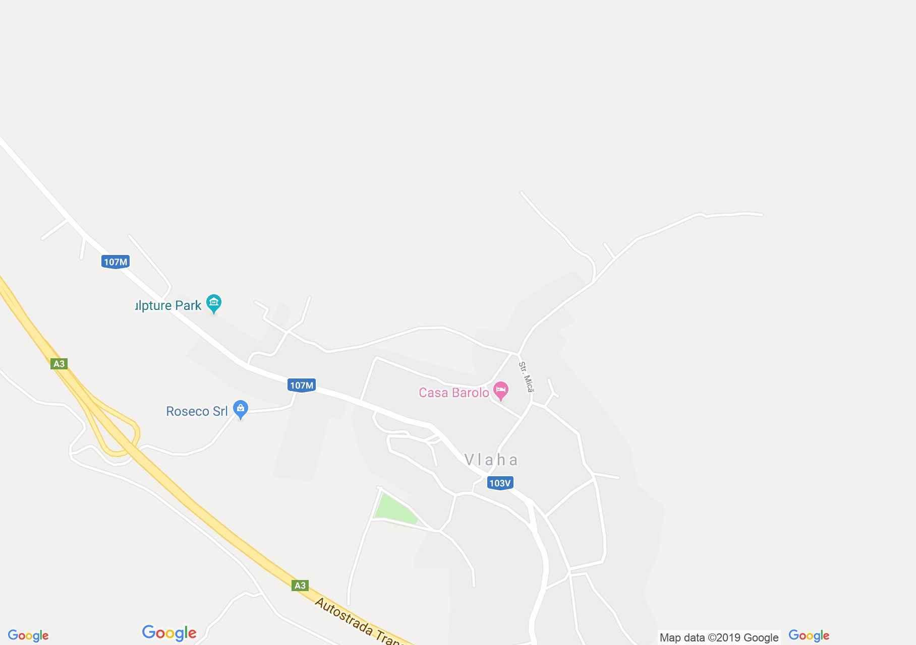 Map of Vlaha: Catholic church