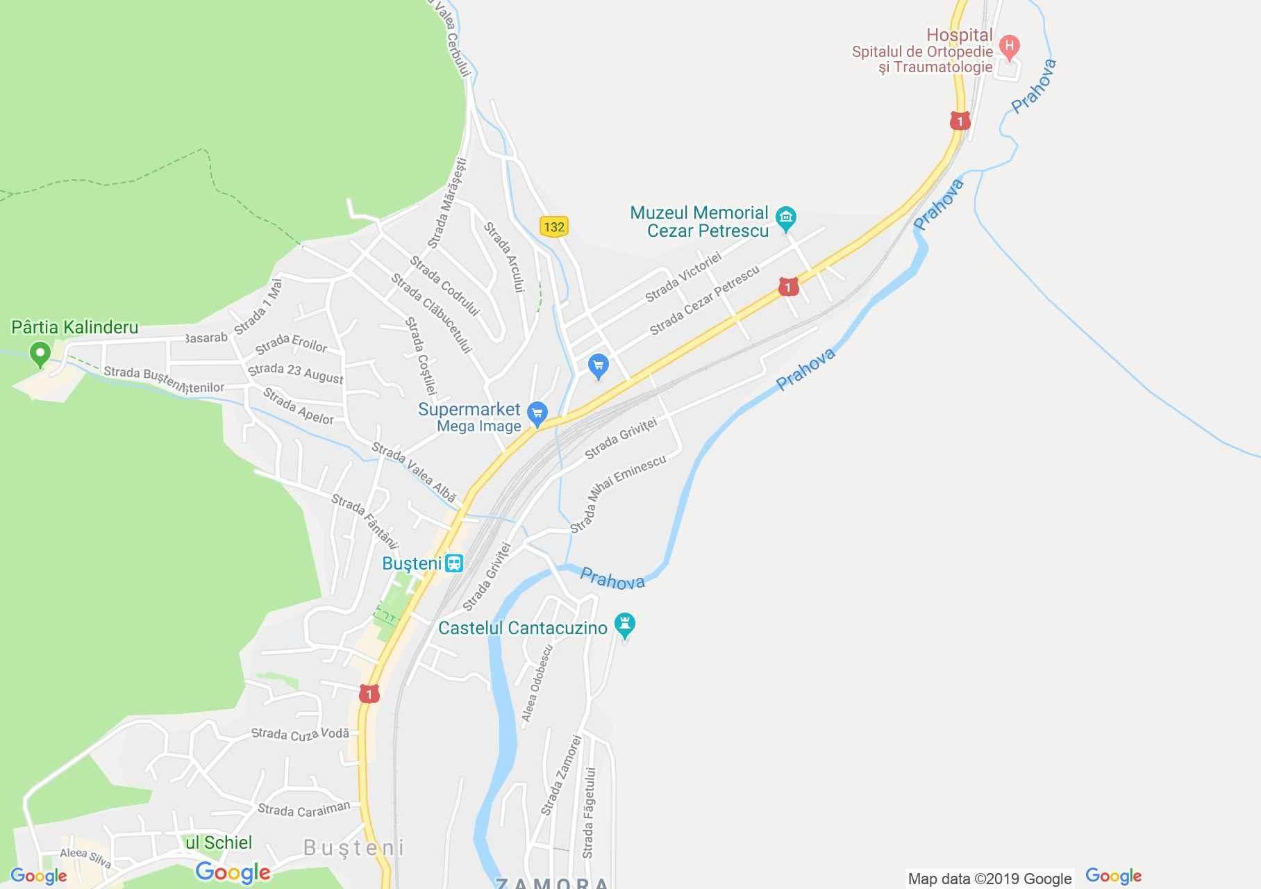 Busteni: Cantacuzino kastély (térkép)