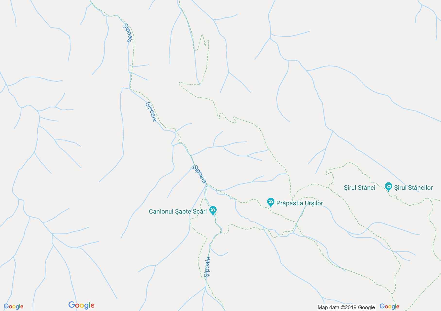 Hartă Săcele: Canionul Şapte Scări