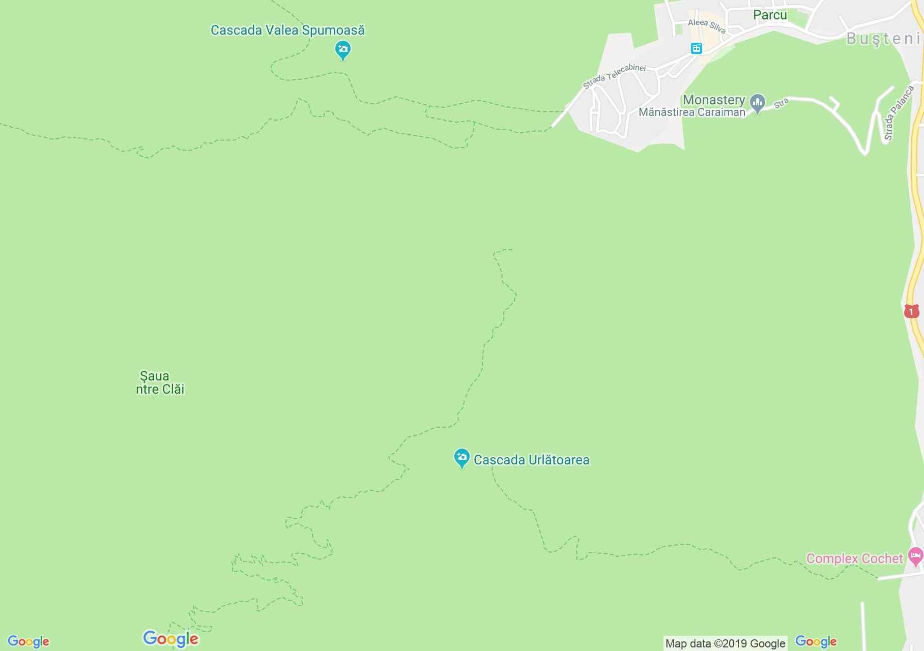 Map of Busteni: Urlatoarea Waterfall