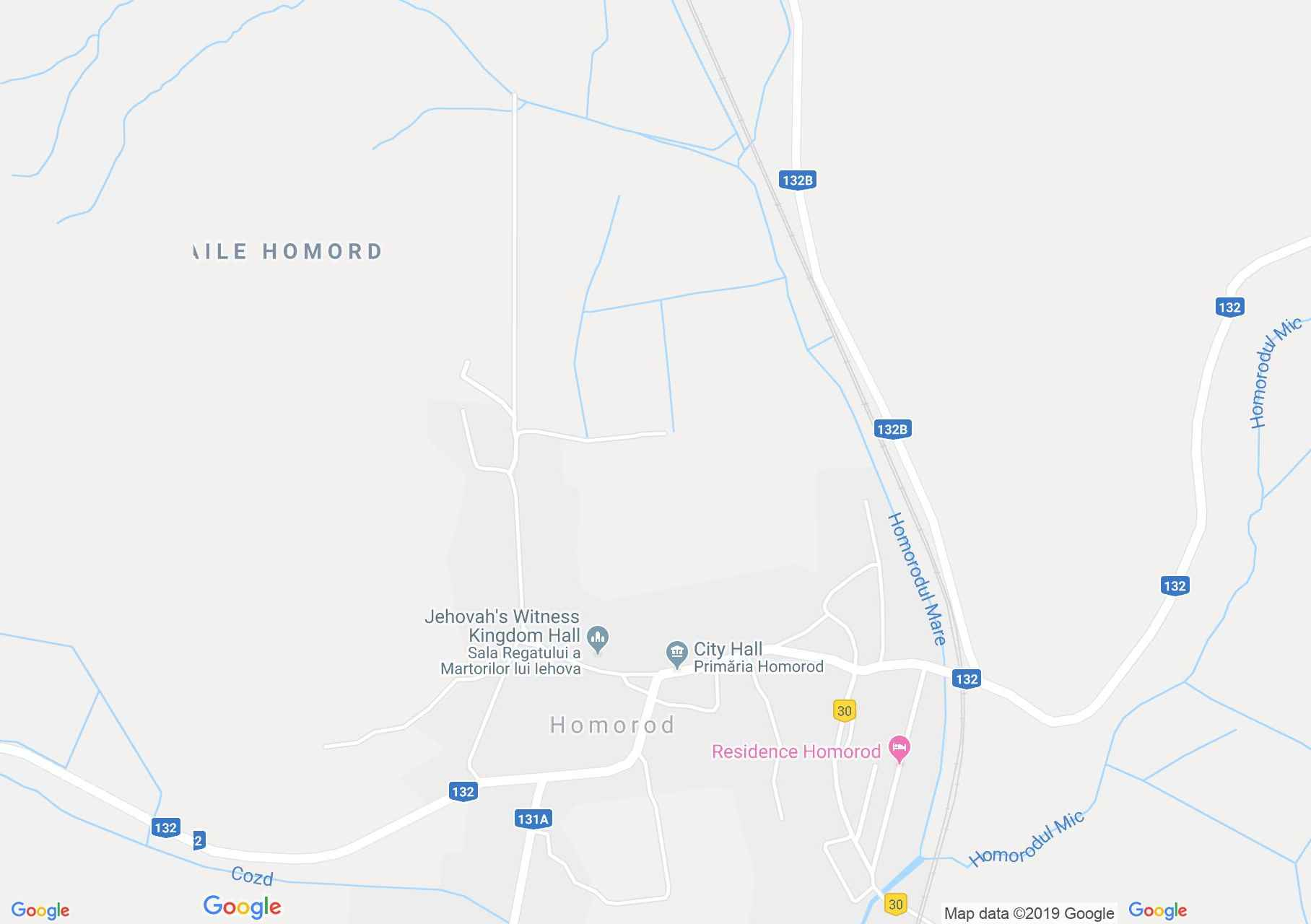 Hartă Homorod: Biserica evanghelică fortificată