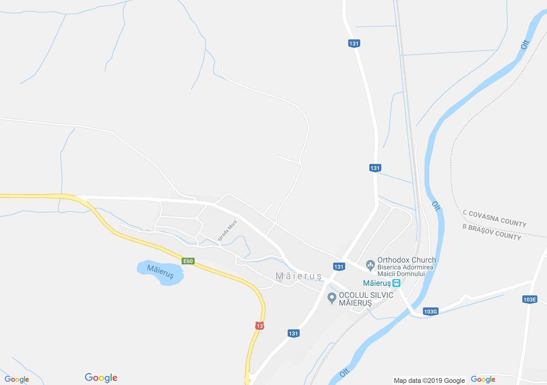 Hartă Maierus: Biserica evanghelică fortificată
