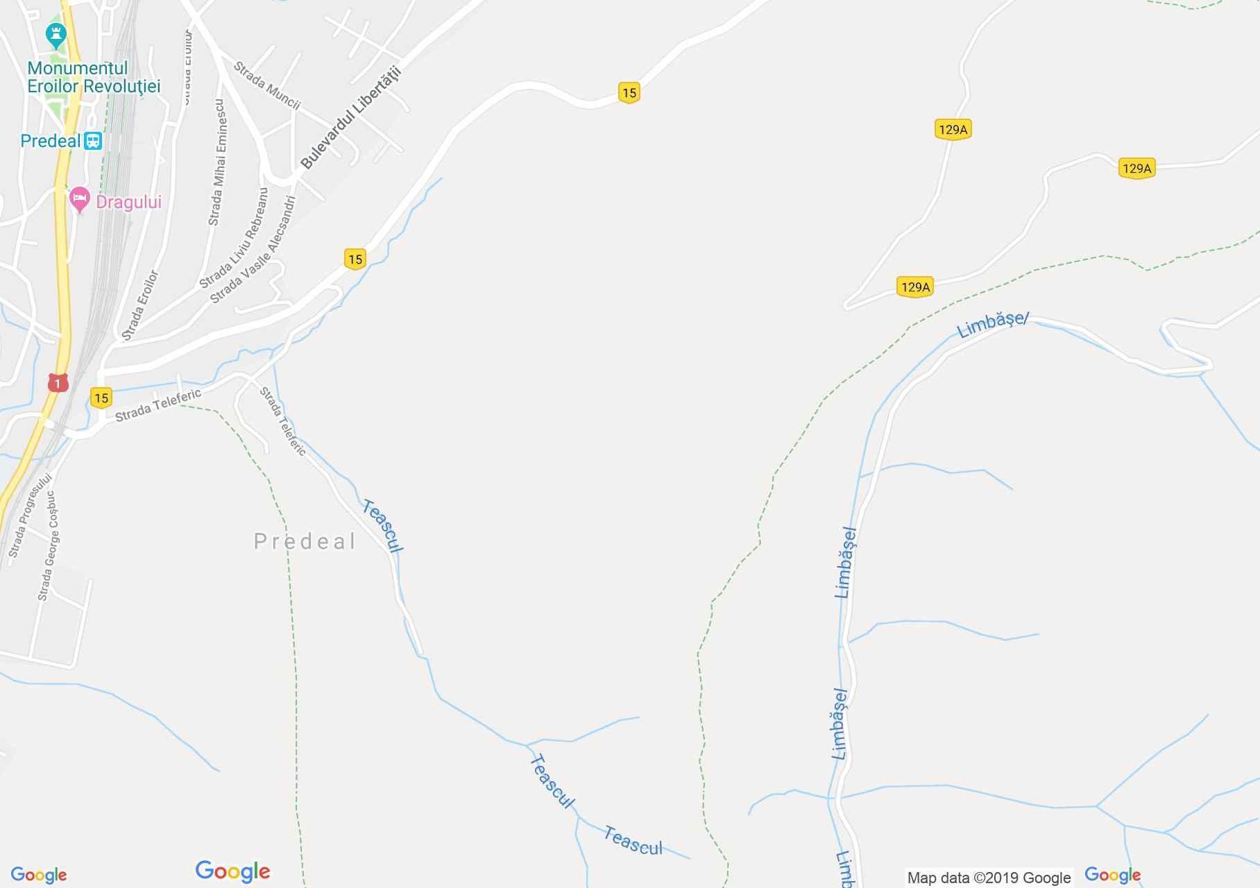 Predeál: Cocoşul sípálya (térkép)