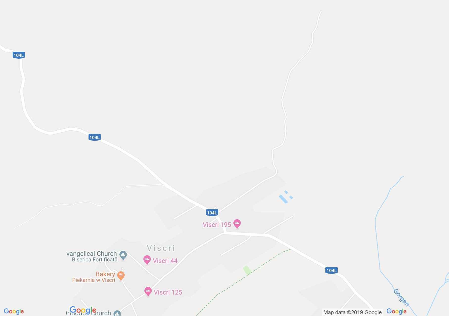 Hartă Viscri: Biserica evanghelică fortificată