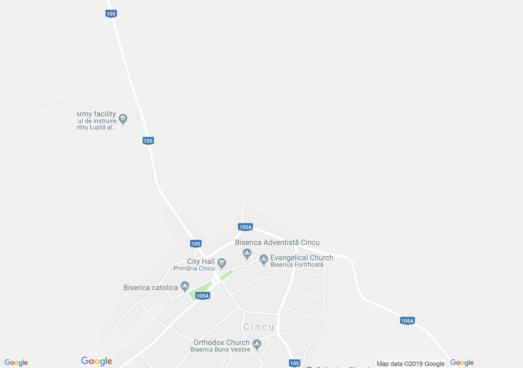 Hartă Cincu: Biserica evangelică fortificată