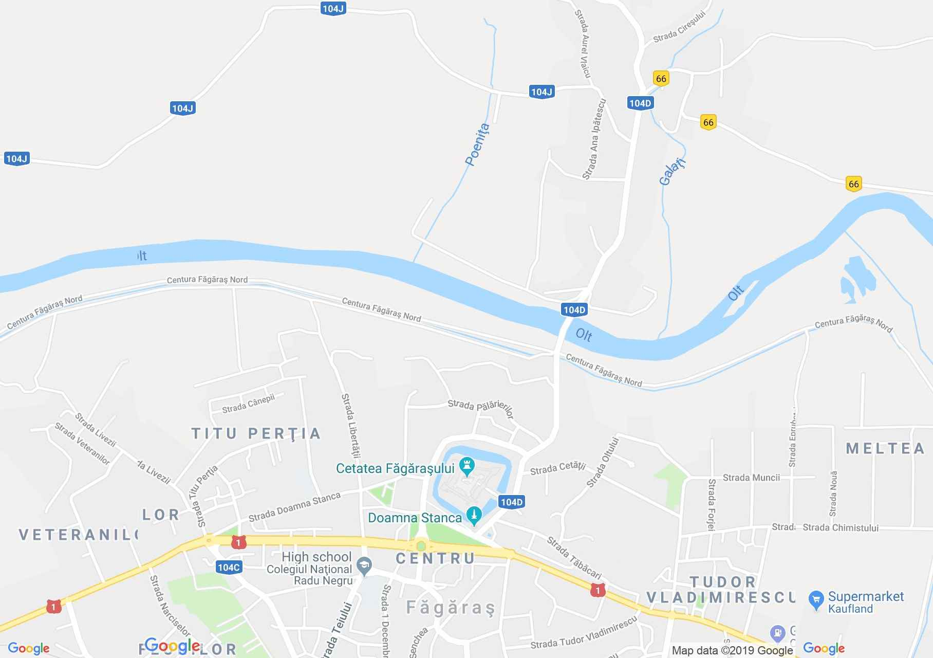 Fogaras: Fogaras vár (térkép)